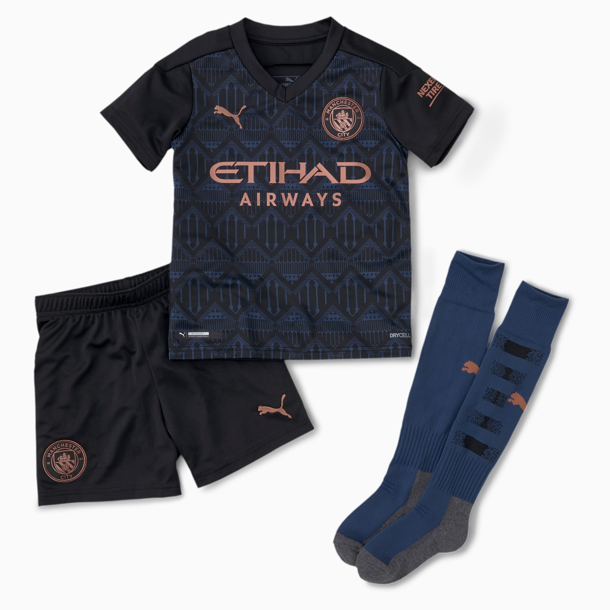 Man City Away Youth Mini Kit   Puma Black-Dark Denim   PUMA Shoes