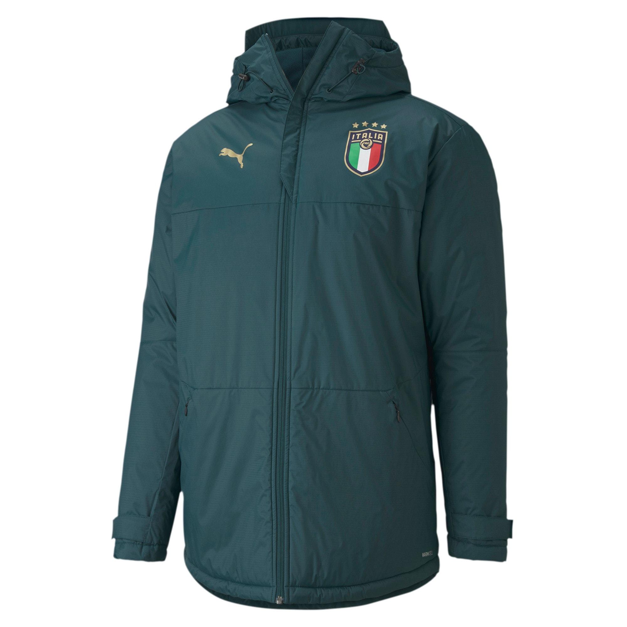 Thumbnail 1 of FIGC イタリア トレーニング ウィンター ジャケット, Ponderosa Pine-Peacoat, medium-JPN