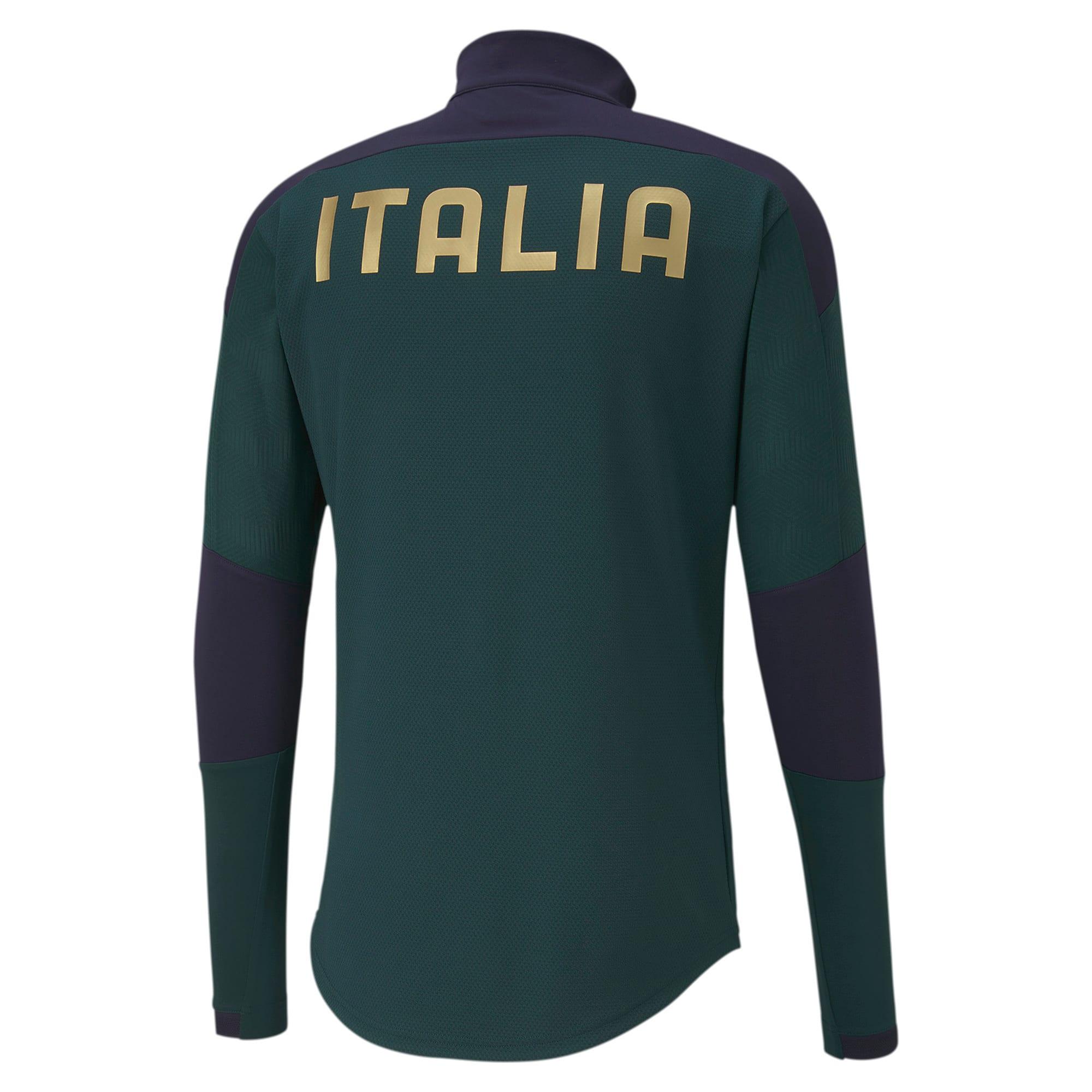 Thumbnail 3 of FIGC イタリア トレーニング 1/4 ジップトップ, Ponderosa Pine-Peacoat, medium-JPN