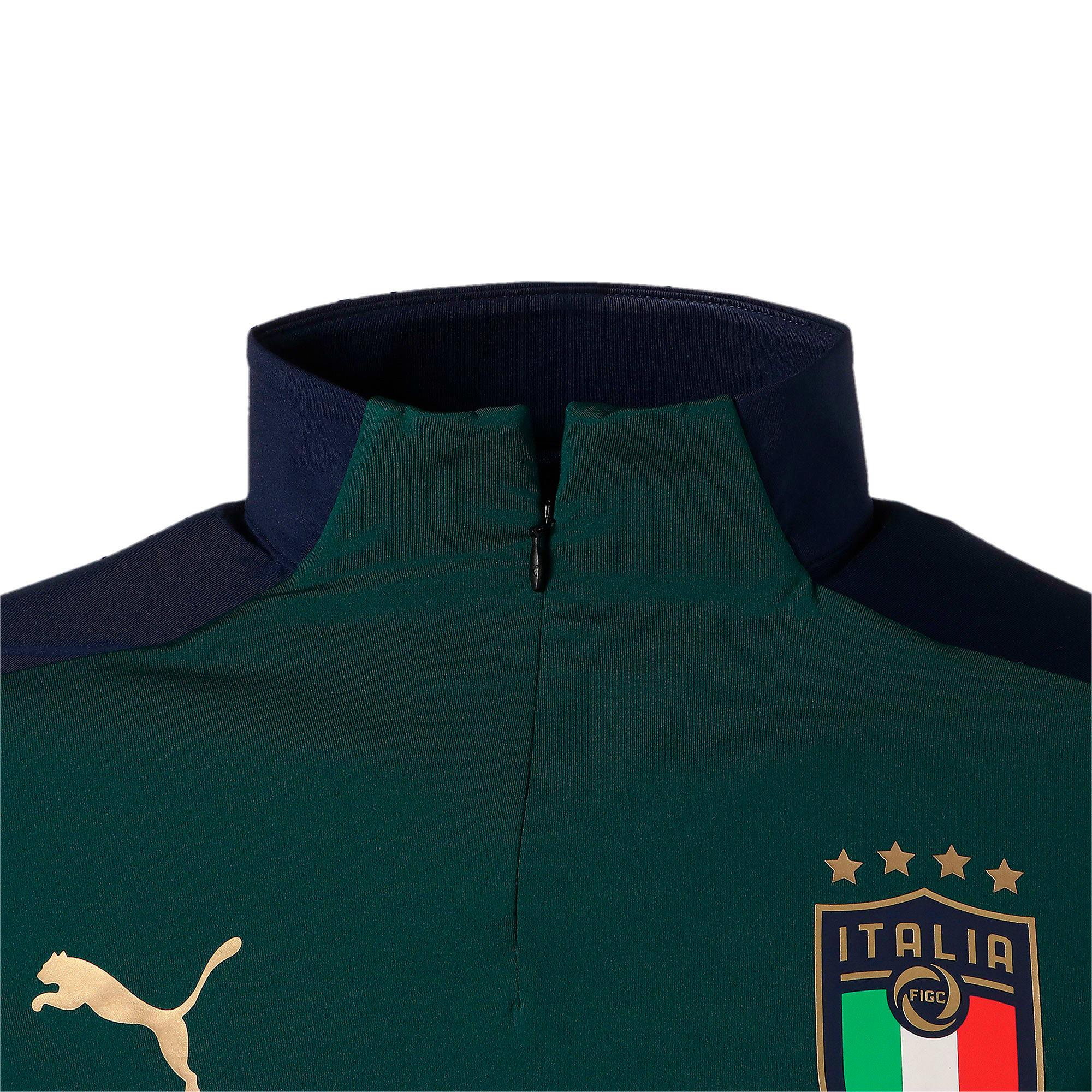 Thumbnail 7 of FIGC イタリア トレーニング 1/4 ジップトップ, Ponderosa Pine-Peacoat, medium-JPN