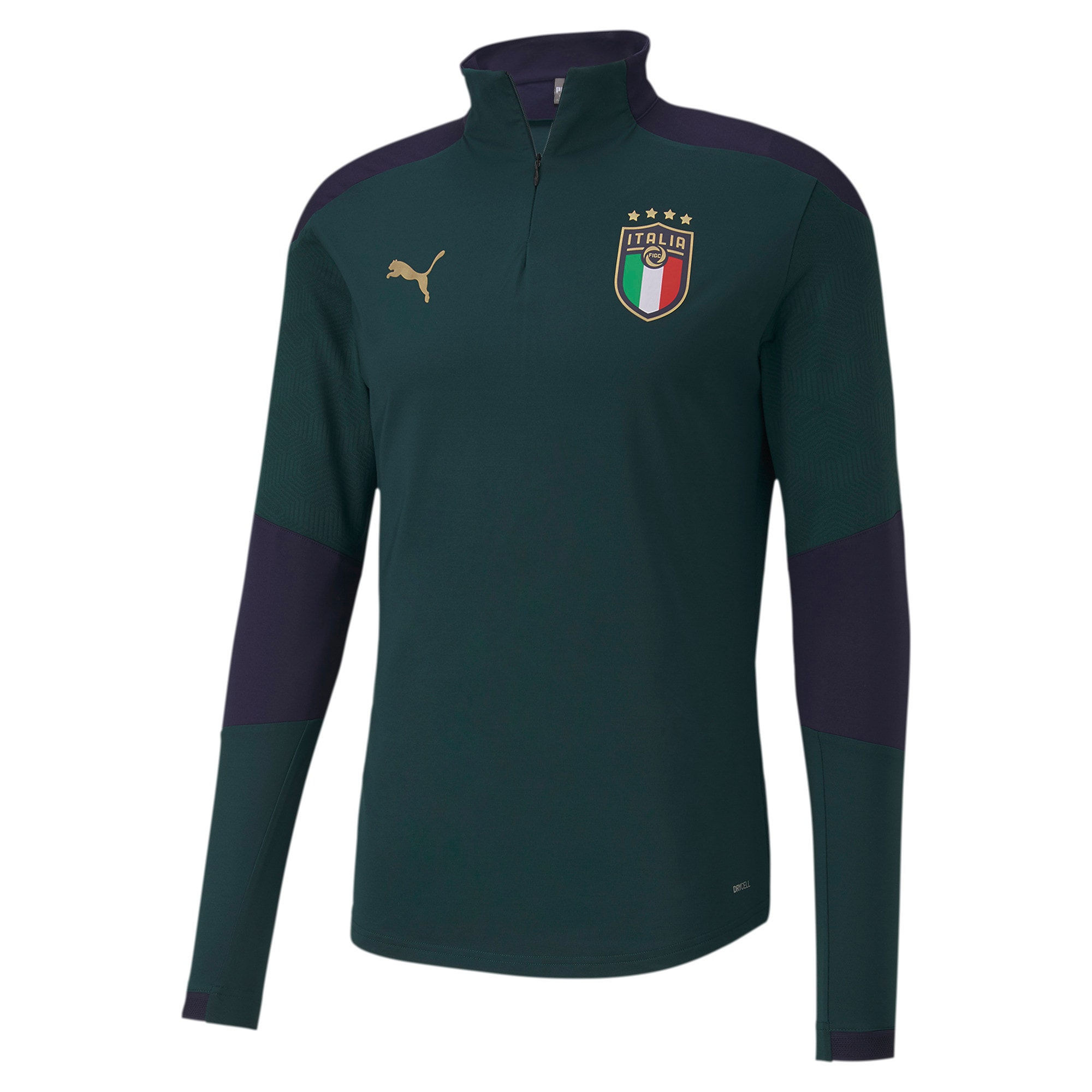 Thumbnail 1 of FIGC イタリア トレーニング 1/4 ジップトップ, Ponderosa Pine-Peacoat, medium-JPN