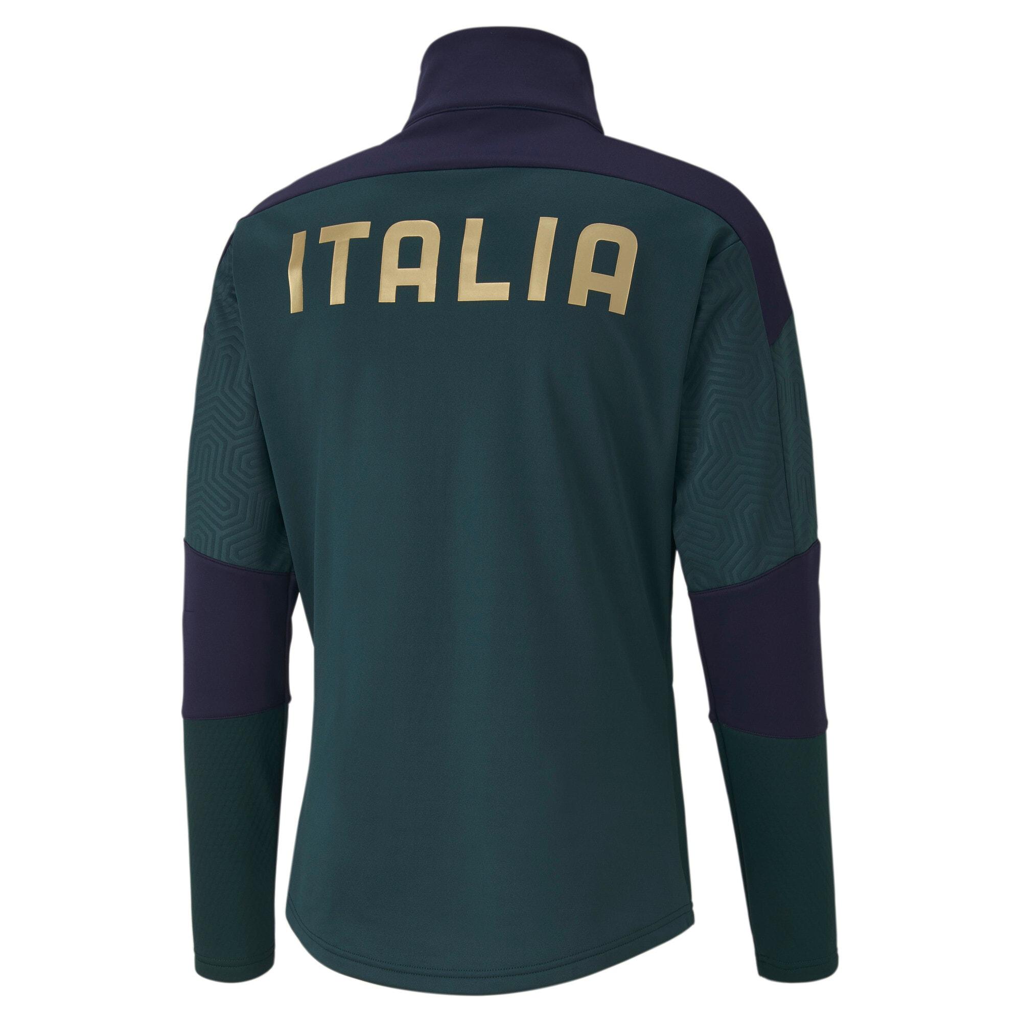Thumbnail 2 of FIGC Men's Training Fleece, Ponderosa Pine-Peacoat, medium