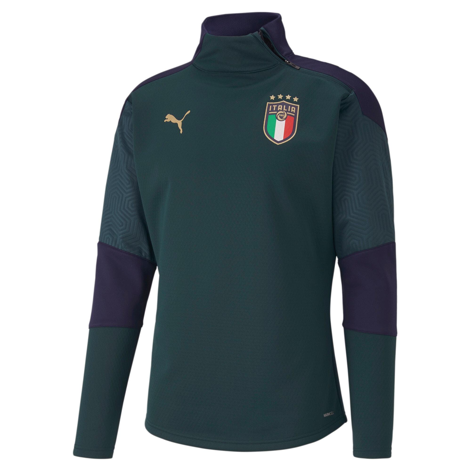 Thumbnail 1 of FIGC Men's Training Fleece, Ponderosa Pine-Peacoat, medium