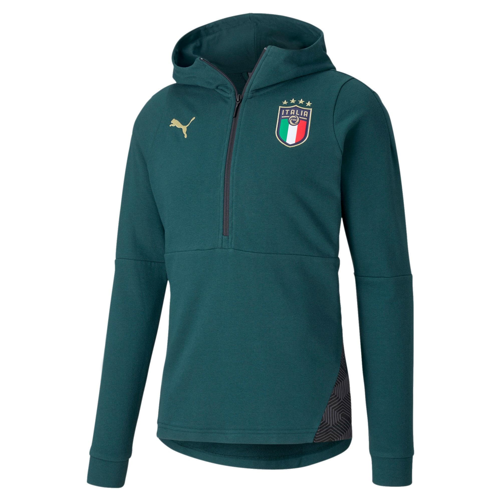 Thumbnail 1 of FIGC イタリア カジュアル フーディー, Ponderosa Pine-Peacoat, medium-JPN