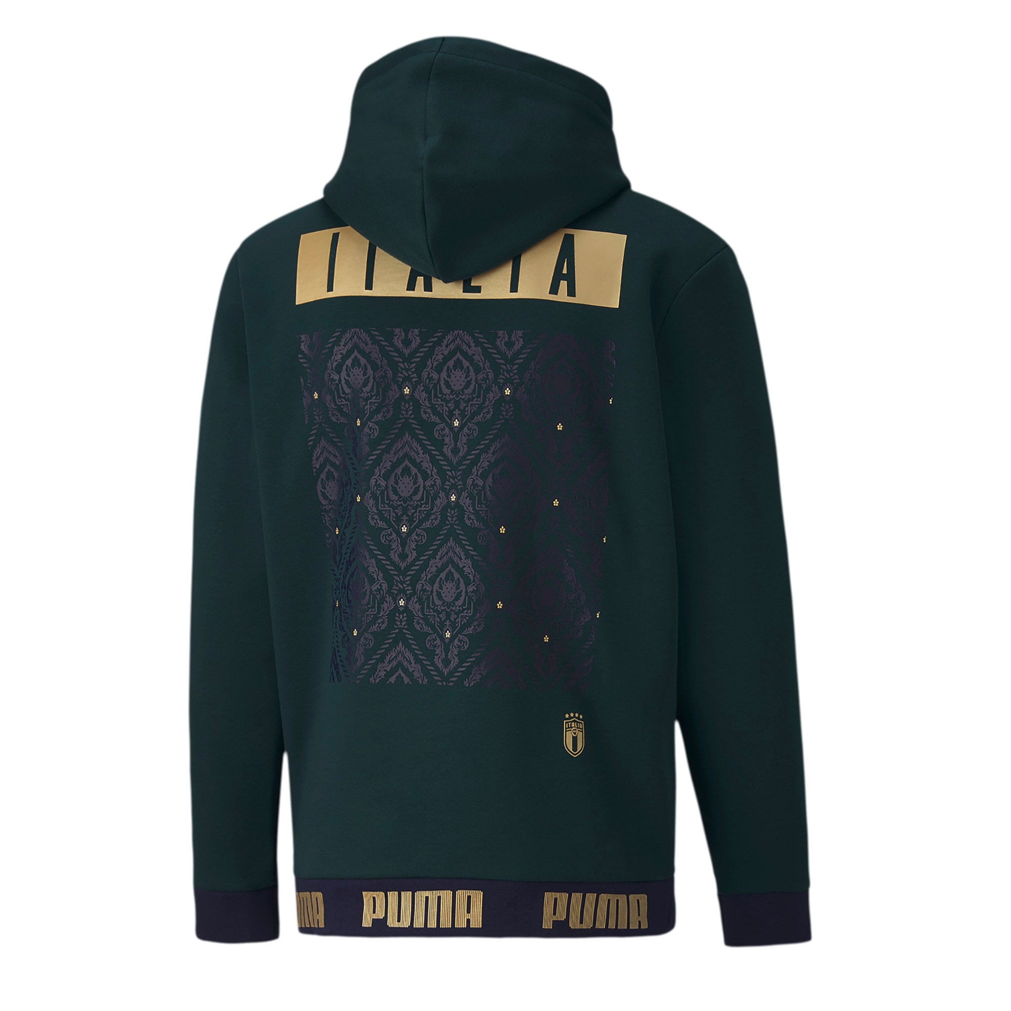 Thumbnail 2 of Italia FtblCulture Men's Hoodie, Ponderosa Pine-Team Gold, medium
