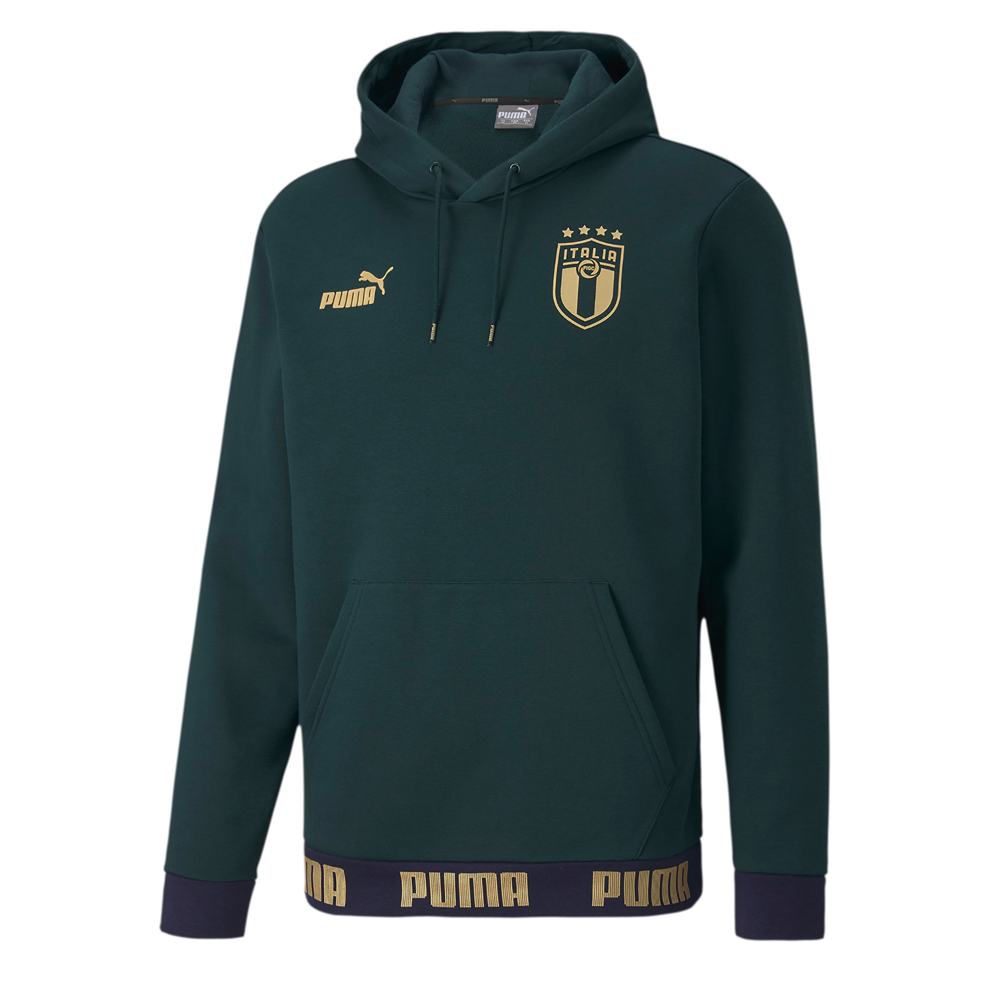 Thumbnail 1 of Italia FtblCulture Men's Hoodie, Ponderosa Pine-Team Gold, medium