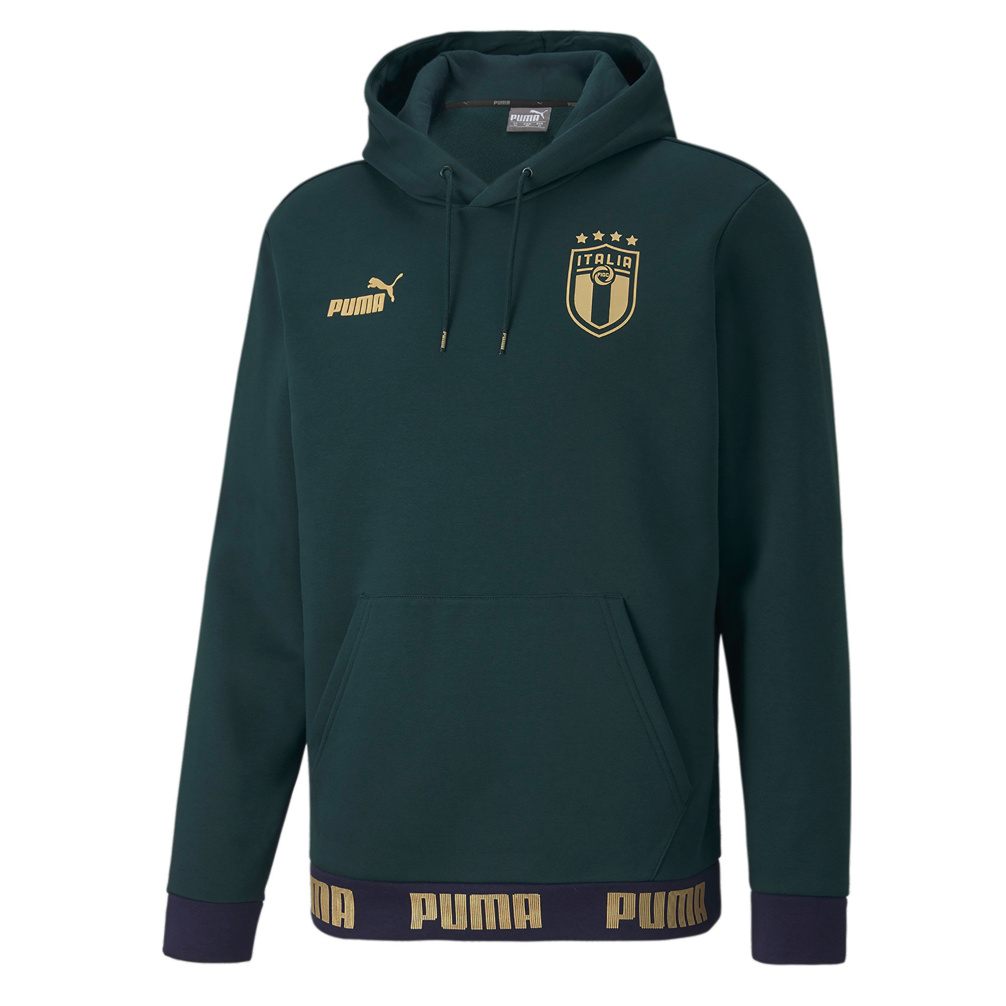 Thumbnail 1 of FIGC イタリア FTBL CULTURE フーディー, Ponderosa Pine-Team Gold, medium-JPN