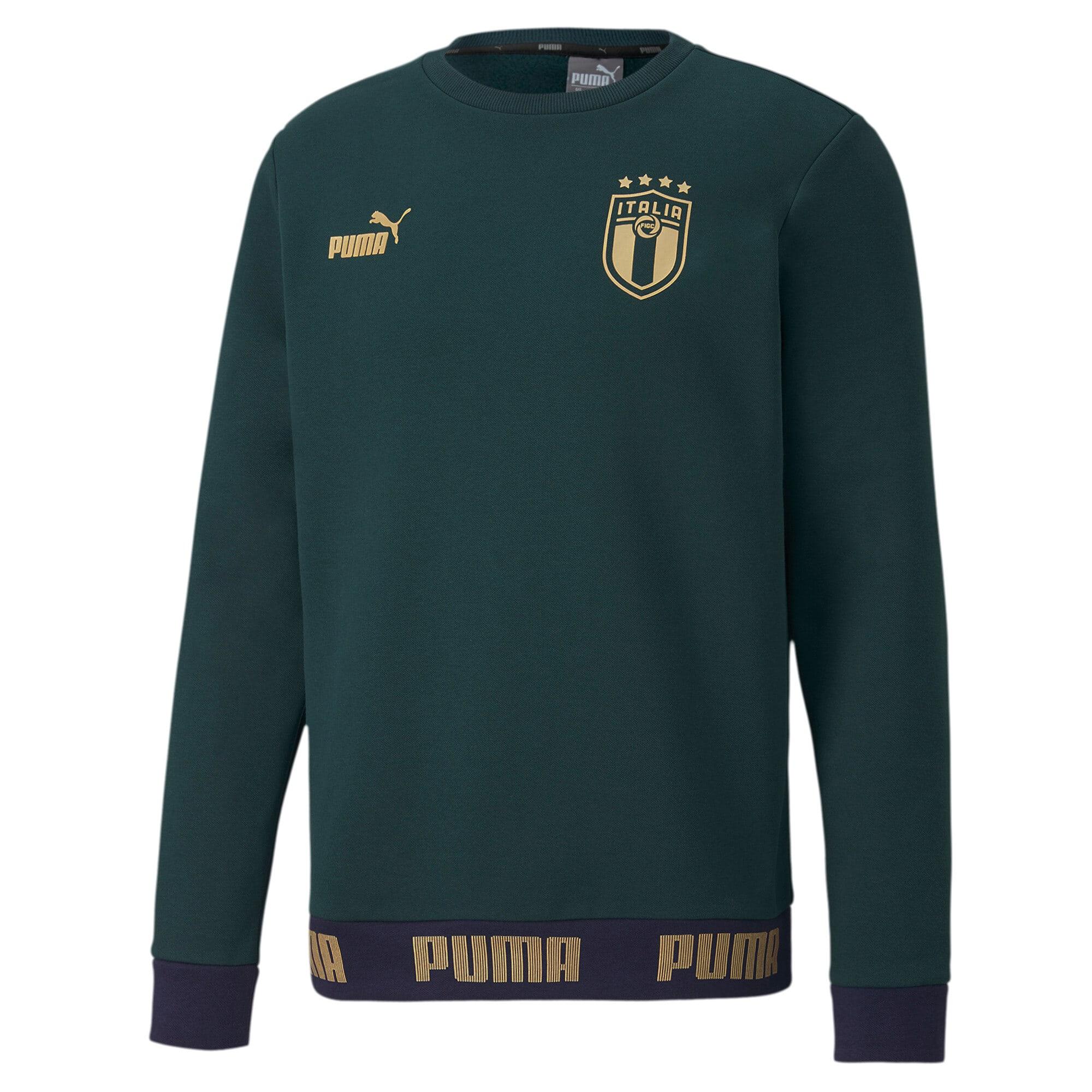 Thumbnail 1 of FIGC イタリア FTBL CULTURE クルースウェット, Ponderosa Pine-Team Gold, medium-JPN