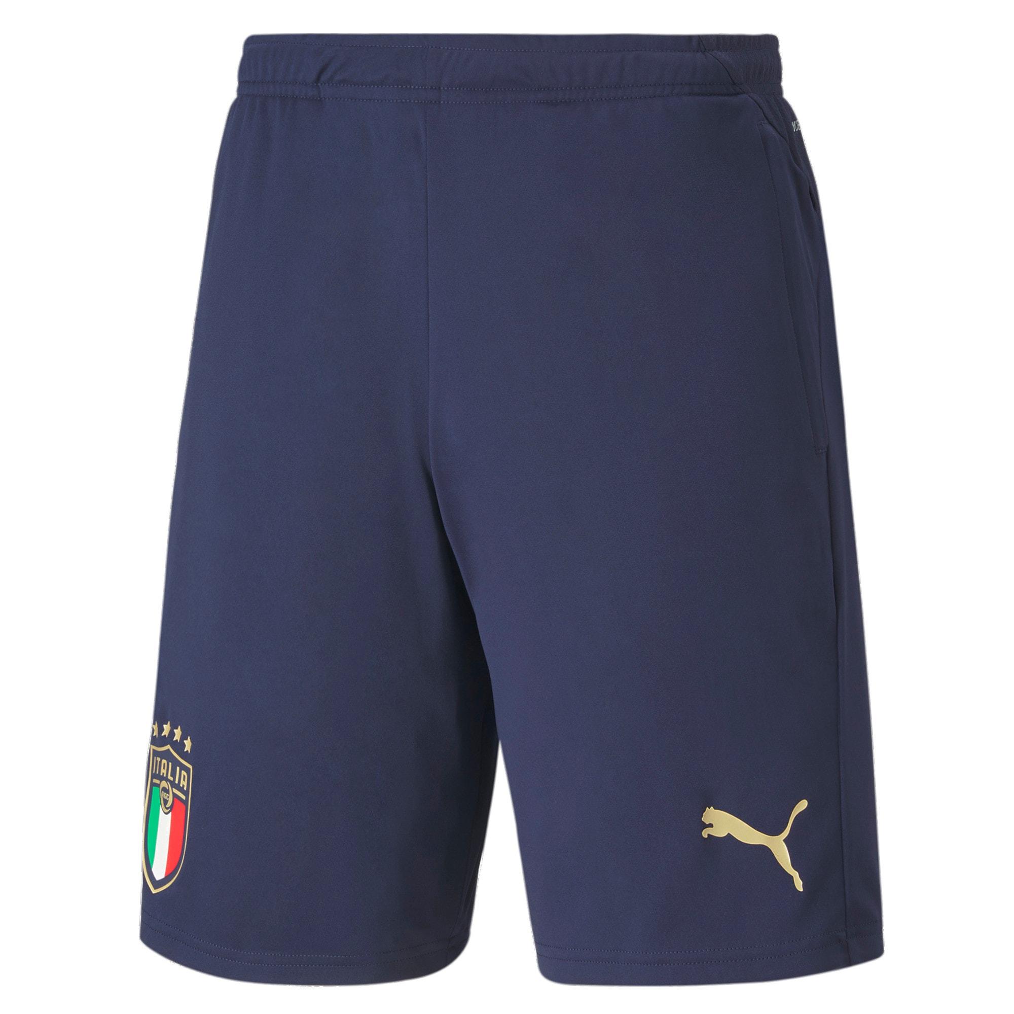 Thumbnail 1 of FIGC イタリア トレーニング ショーツ, Peacoat-Puma Team Gold, medium-JPN