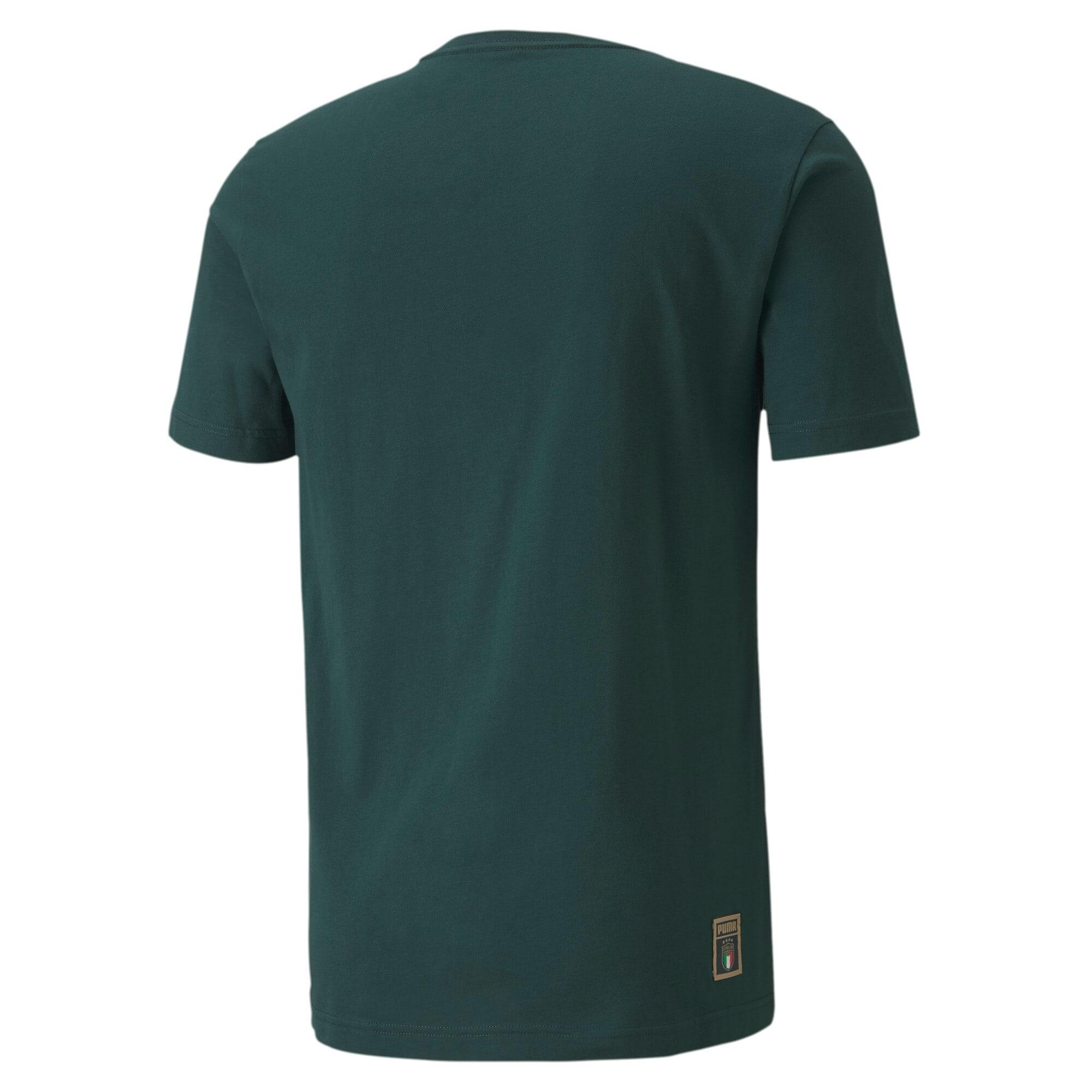 Miniatura 2 de Camiseta PUMA DNA de la FIGC para hombre , Ponderosa Pine-Team gold, mediano