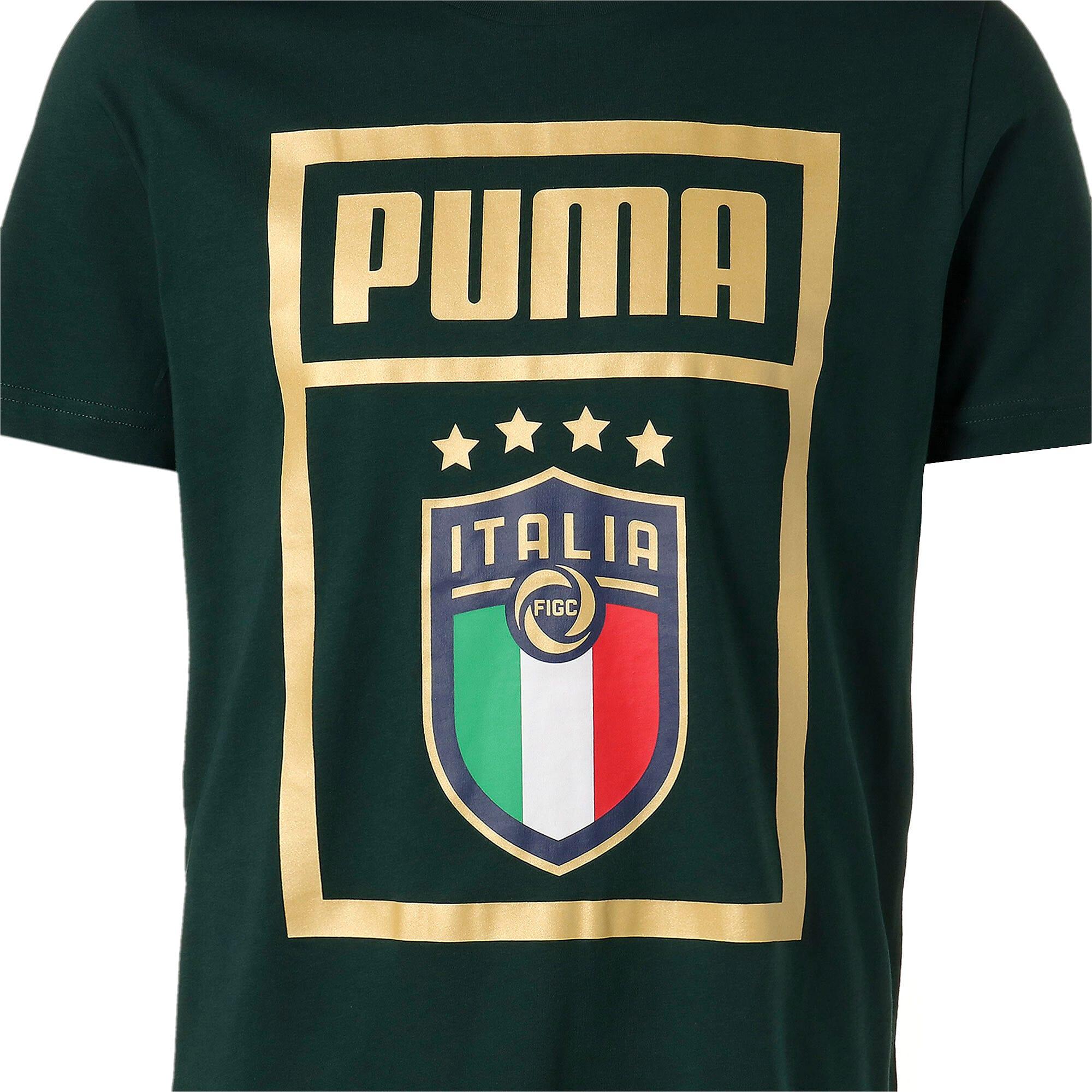 Thumbnail 7 of FIGC イタリア PUMA DNA Tシャツ 半袖, Ponderosa Pine-Team gold, medium-JPN
