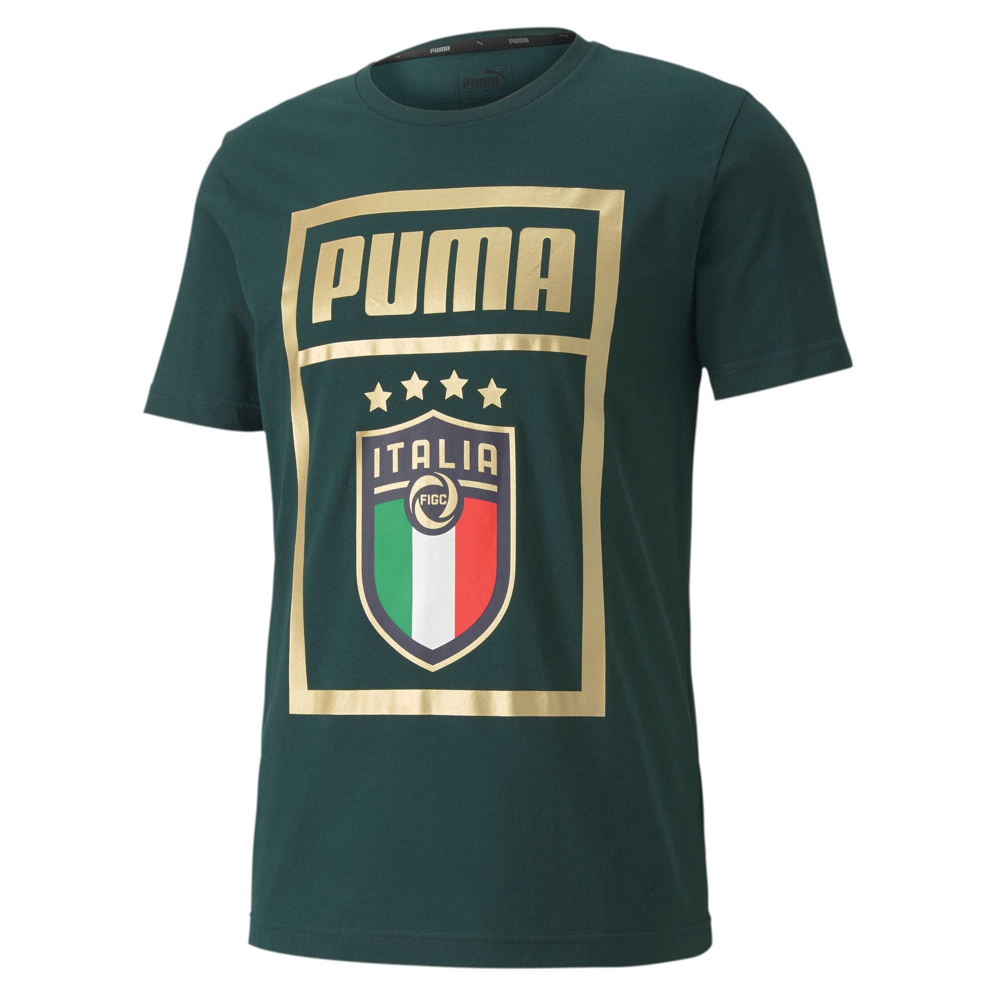 Thumbnail 1 of FIGC PUMA DNA Men's Tee, Ponderosa Pine-Team gold, medium