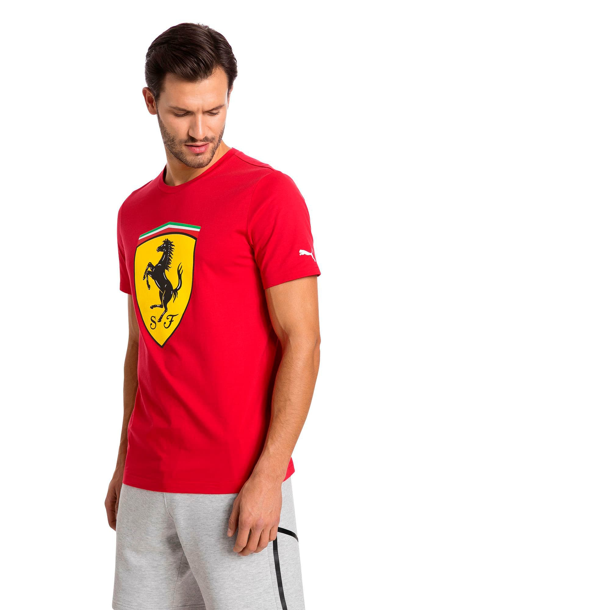 PUMA Mens Scuderia Ferrari Big Shield T-Shirt 762139-01-XS-A