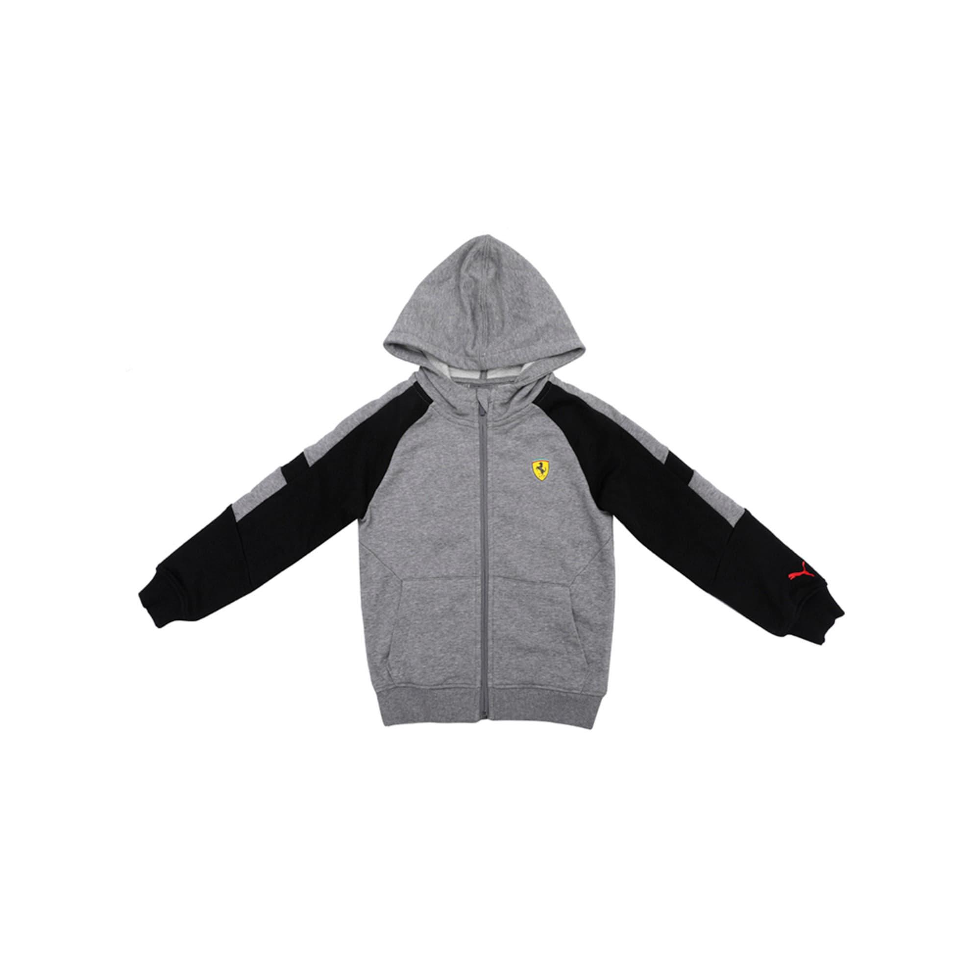 Thumbnail 1 of Ferrari Kids' Hooded Sweat Jacket, Medium Gray Heather, medium-IND
