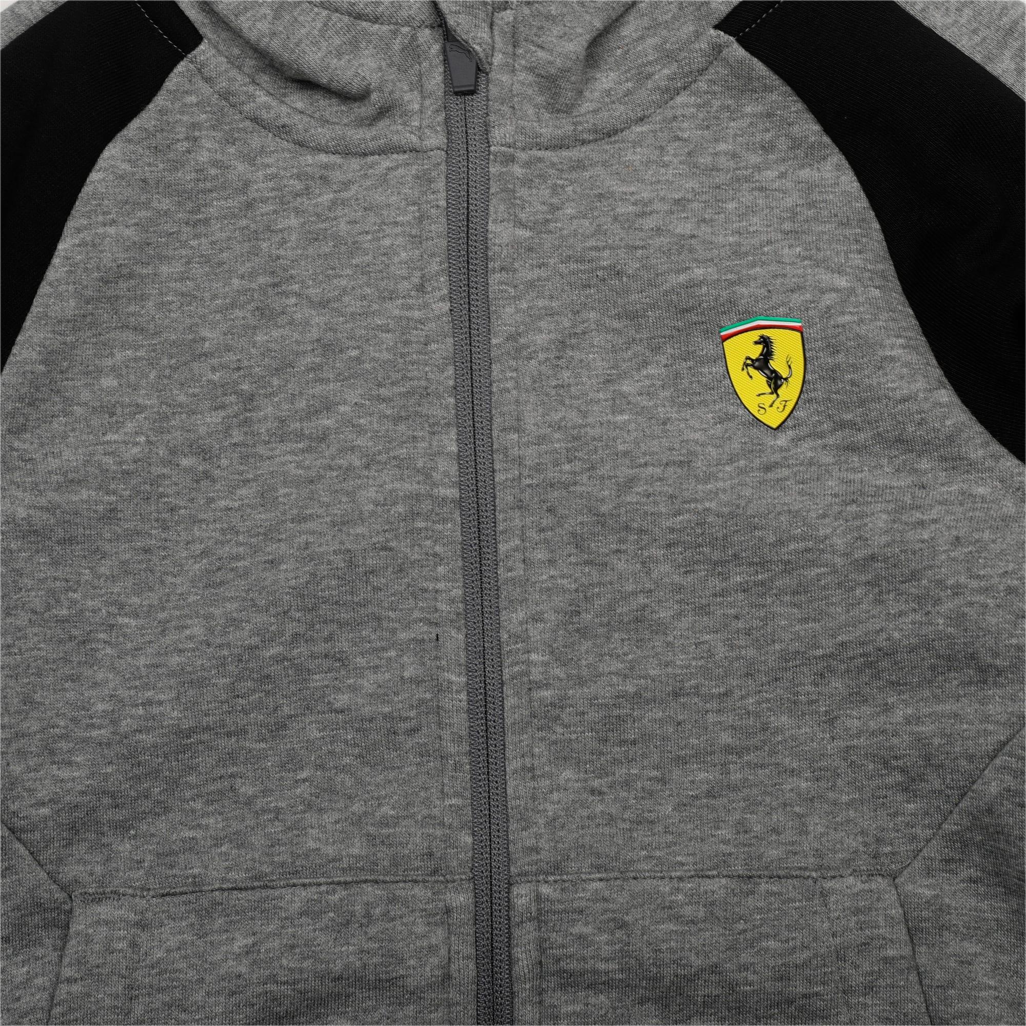 Thumbnail 2 of Ferrari Kids' Hooded Sweat Jacket, Medium Gray Heather, medium-IND