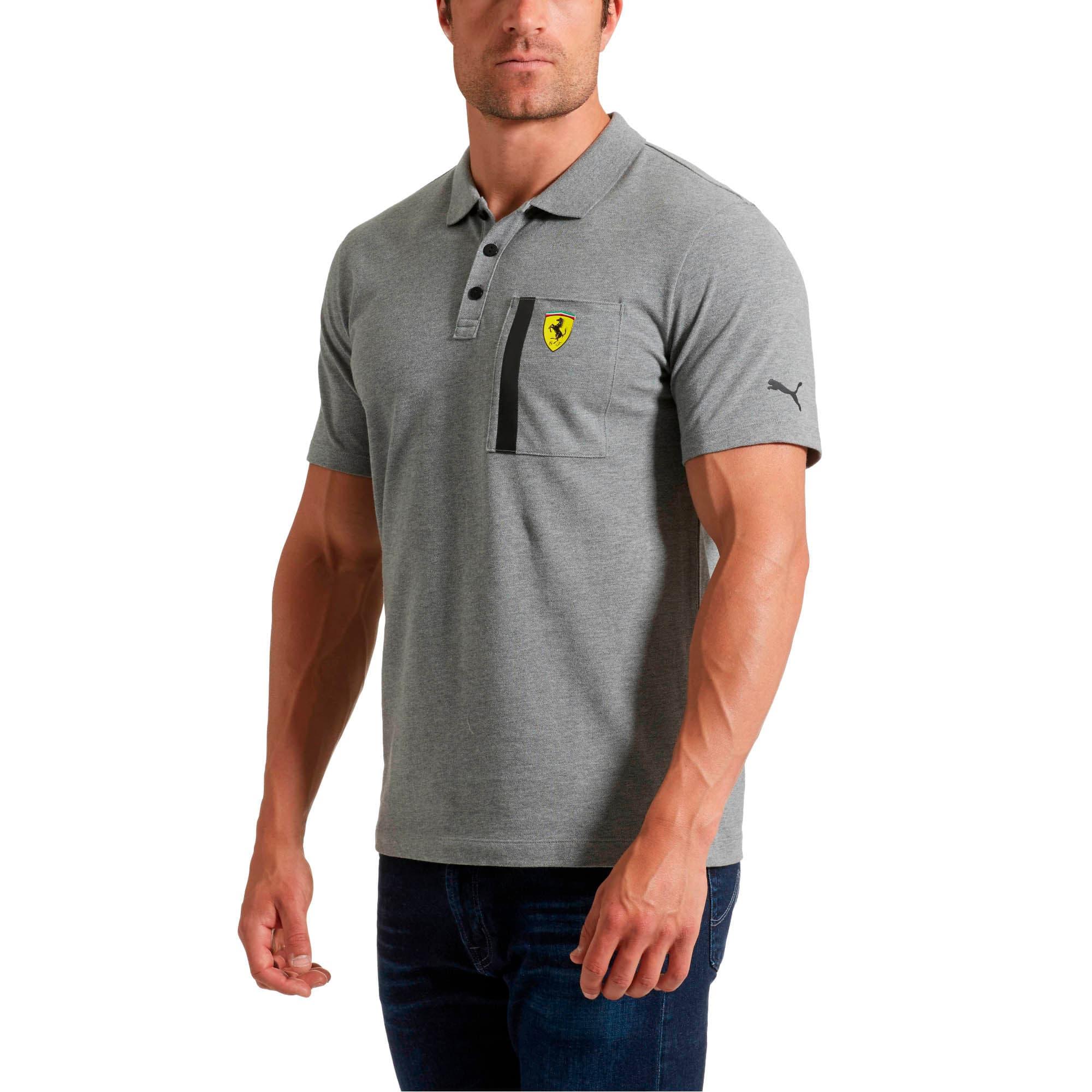 Thumbnail 2 of Ferrari Polo Shirt, Medium Gray Heather, medium