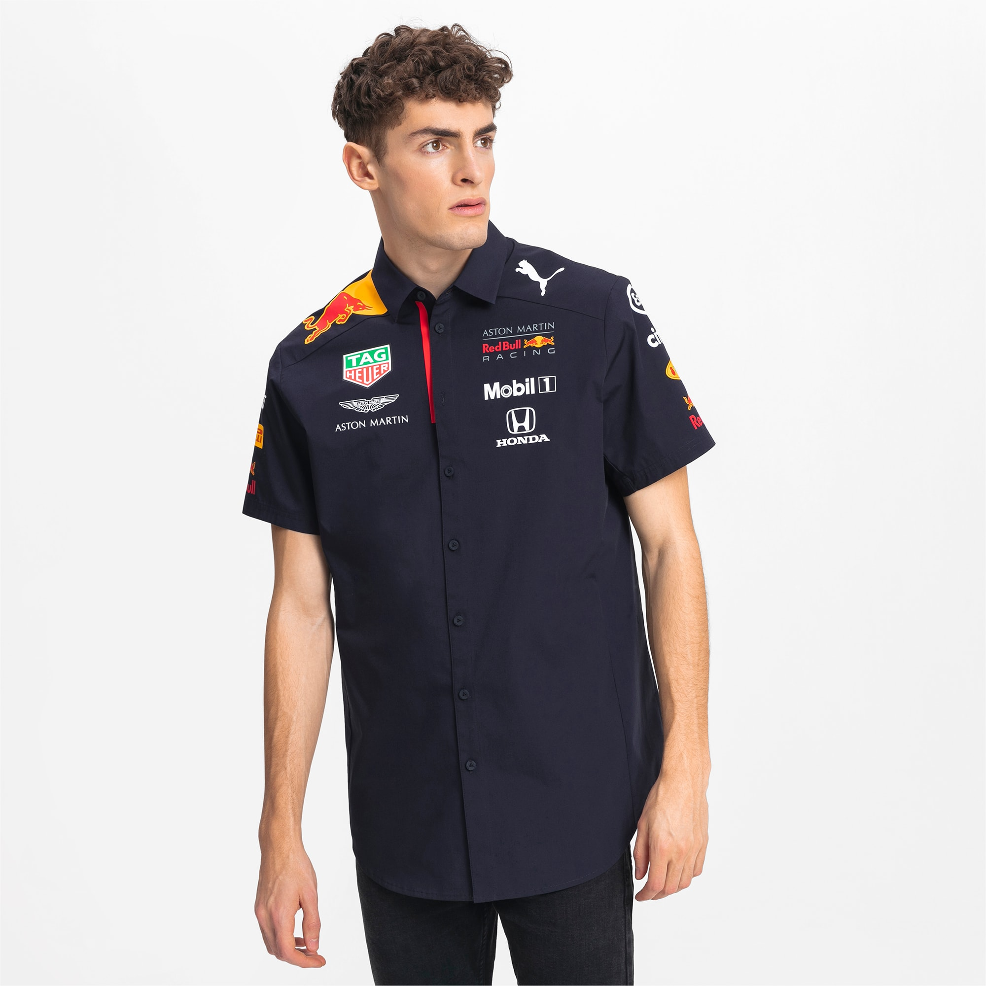 Chemise Red Bull Racing Team à manches courtes pour homme