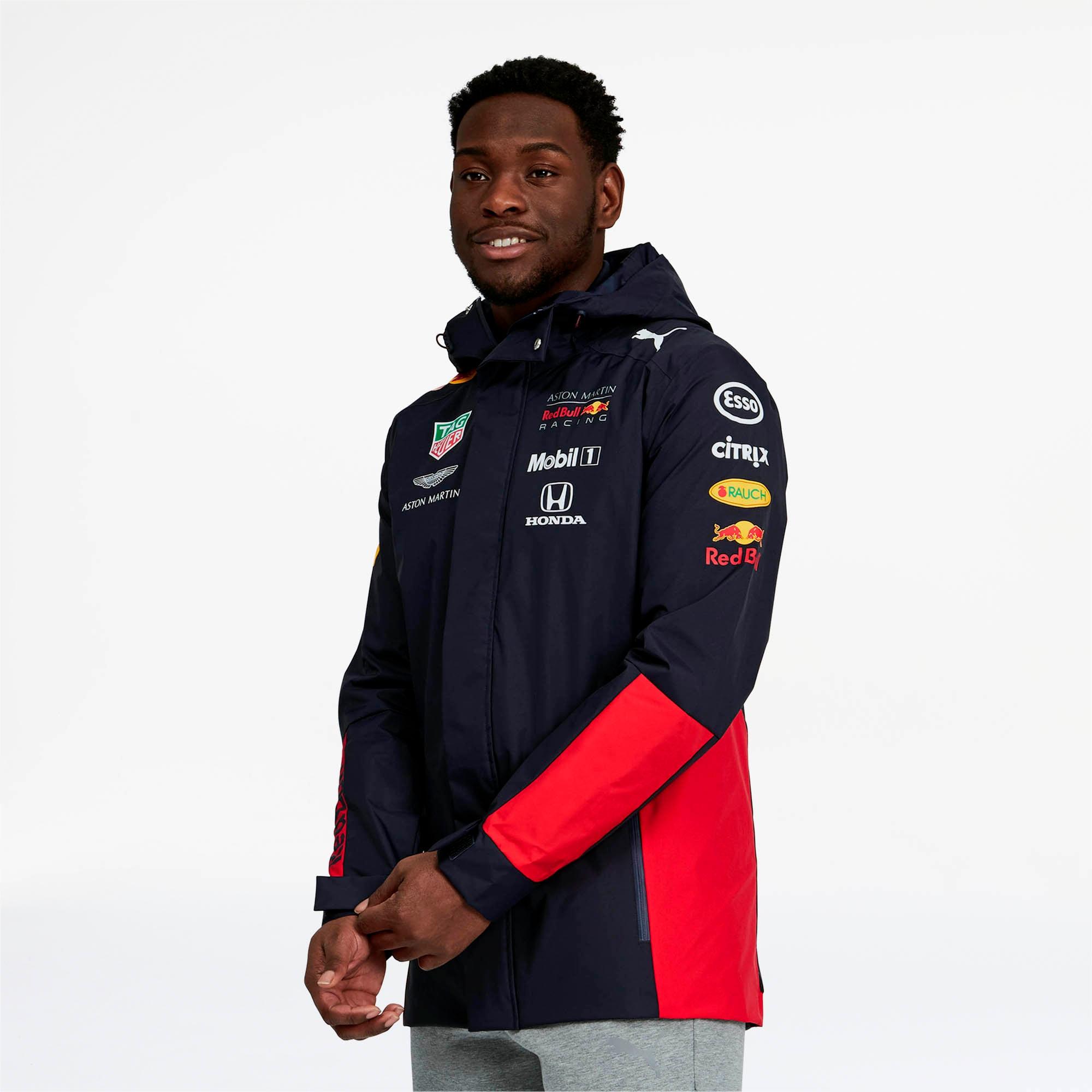 Red Bull Racing Team Men's Hooded Rain Jacket