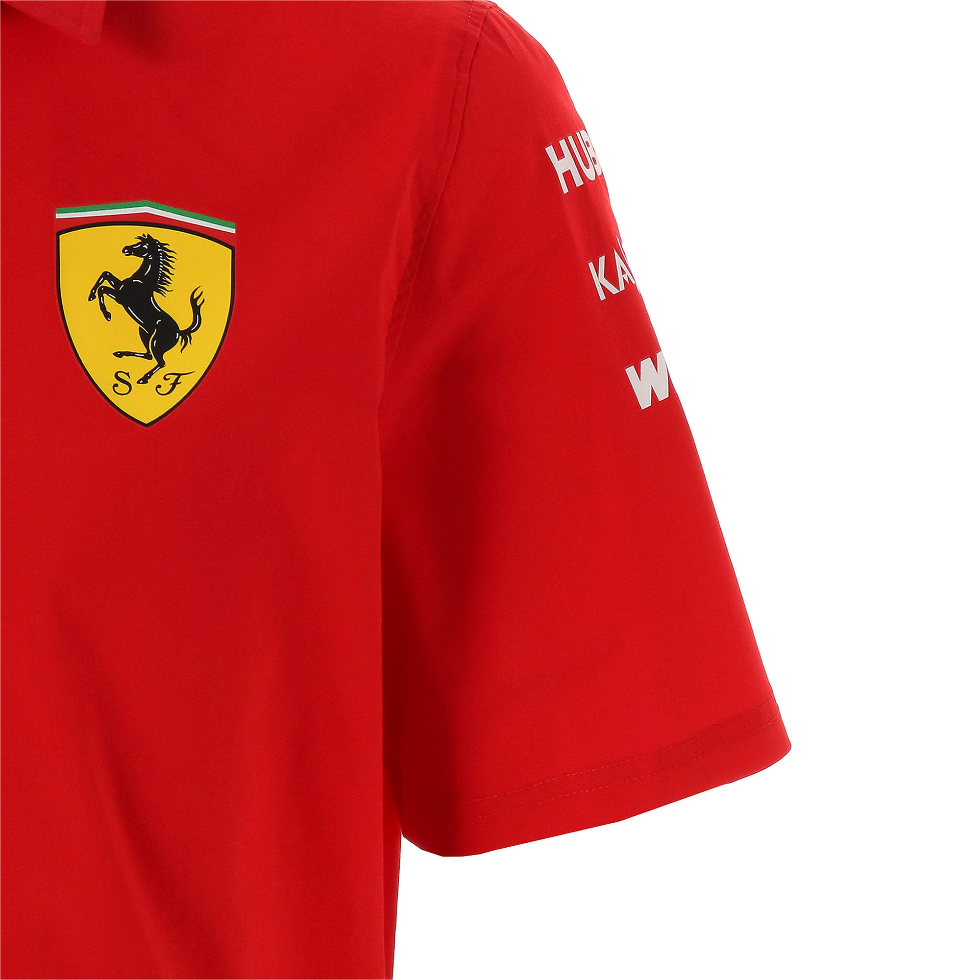 Thumbnail 5 of フェラーリ SF チーム シャツ, Rosso Corsa-without MW Logo, medium-JPN