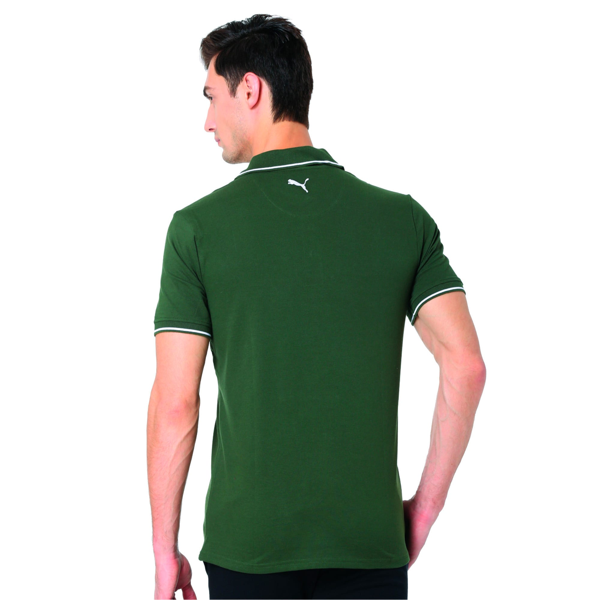 Thumbnail 1 of Men s ESS Tipping Polo, olive night-white, medium-IND