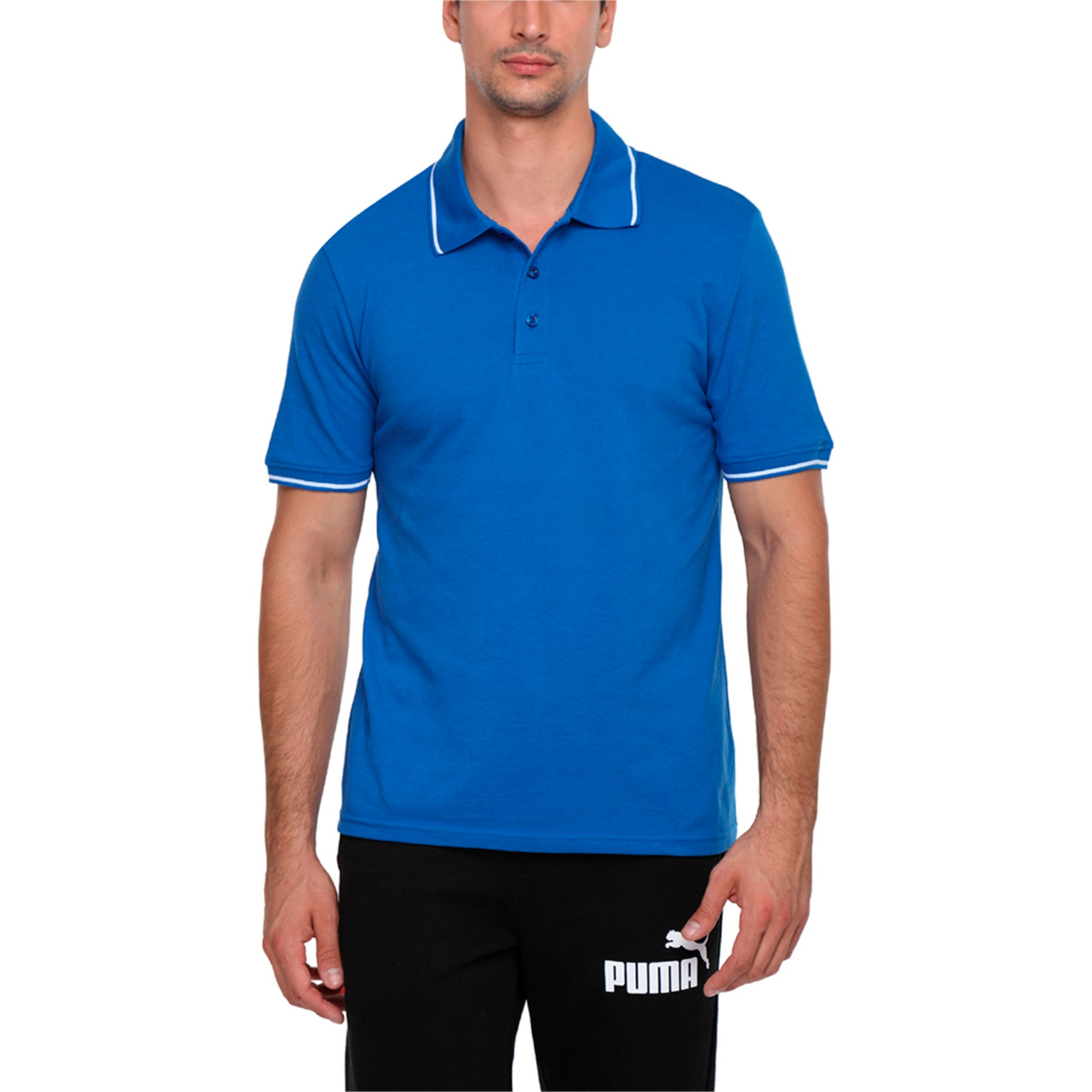 Thumbnail 4 of Men s ESS Tipping Polo, Royal Blue, medium-IND