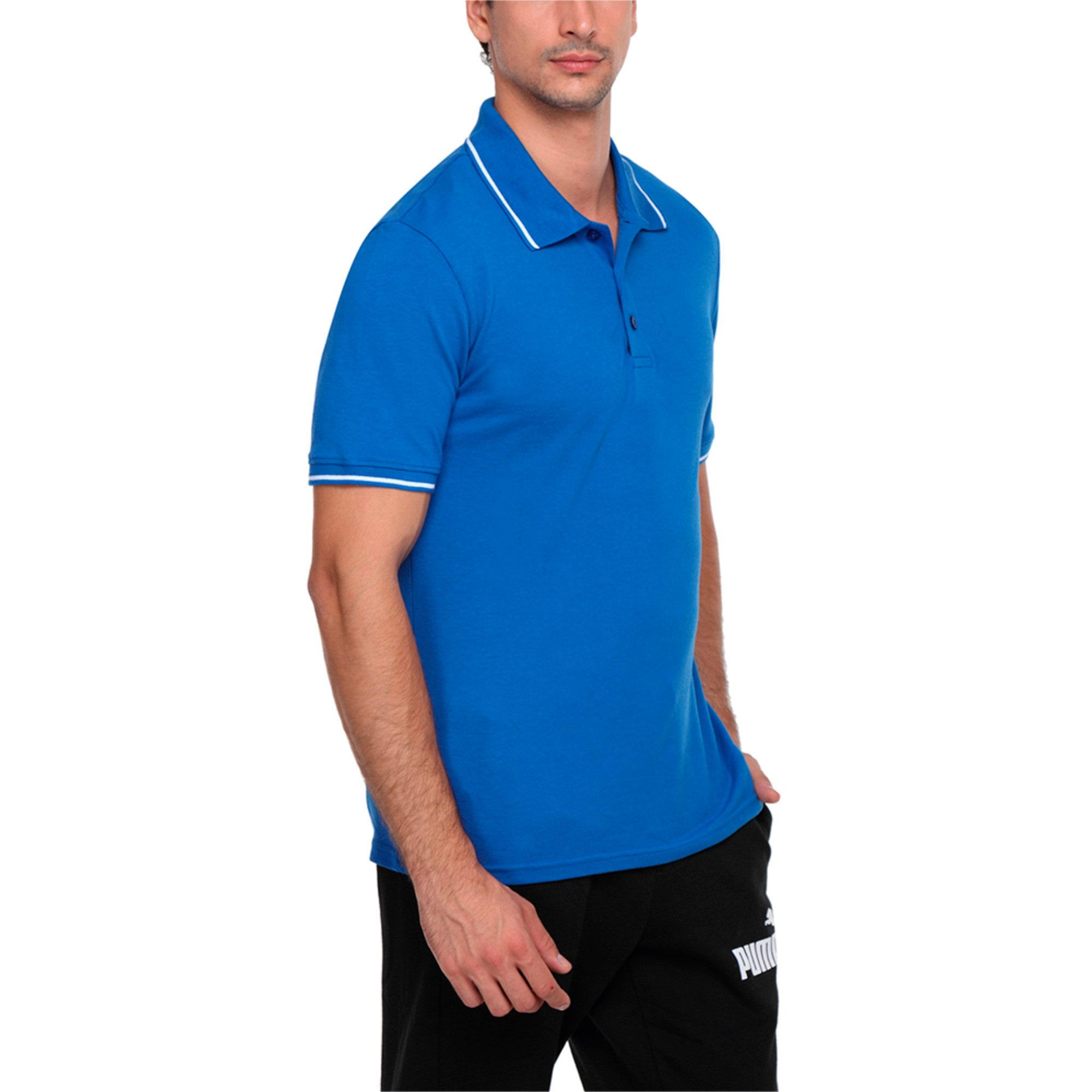 Thumbnail 2 of Men s ESS Tipping Polo, Royal Blue, medium-IND