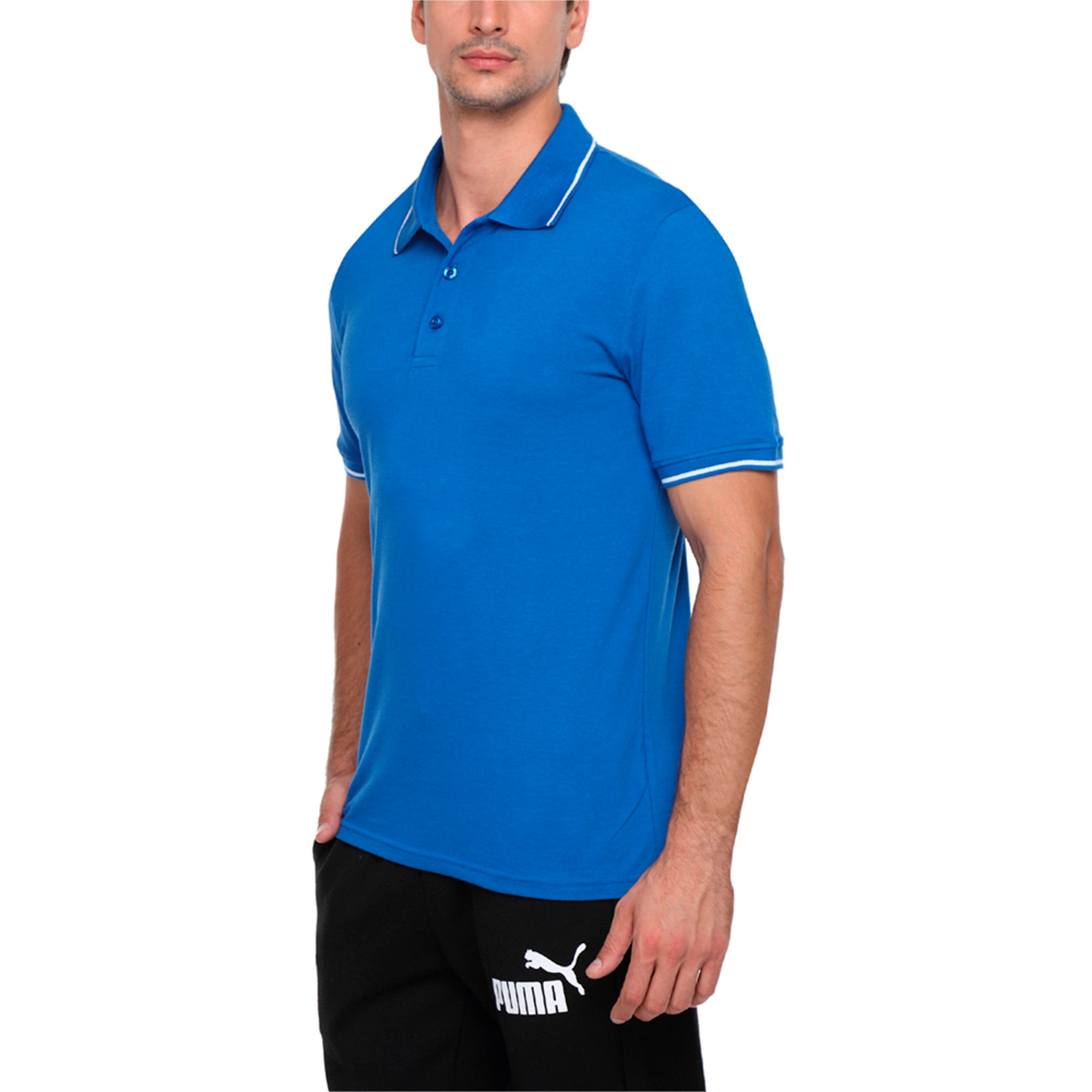 Thumbnail 3 of Men s ESS Tipping Polo, Royal Blue, medium-IND