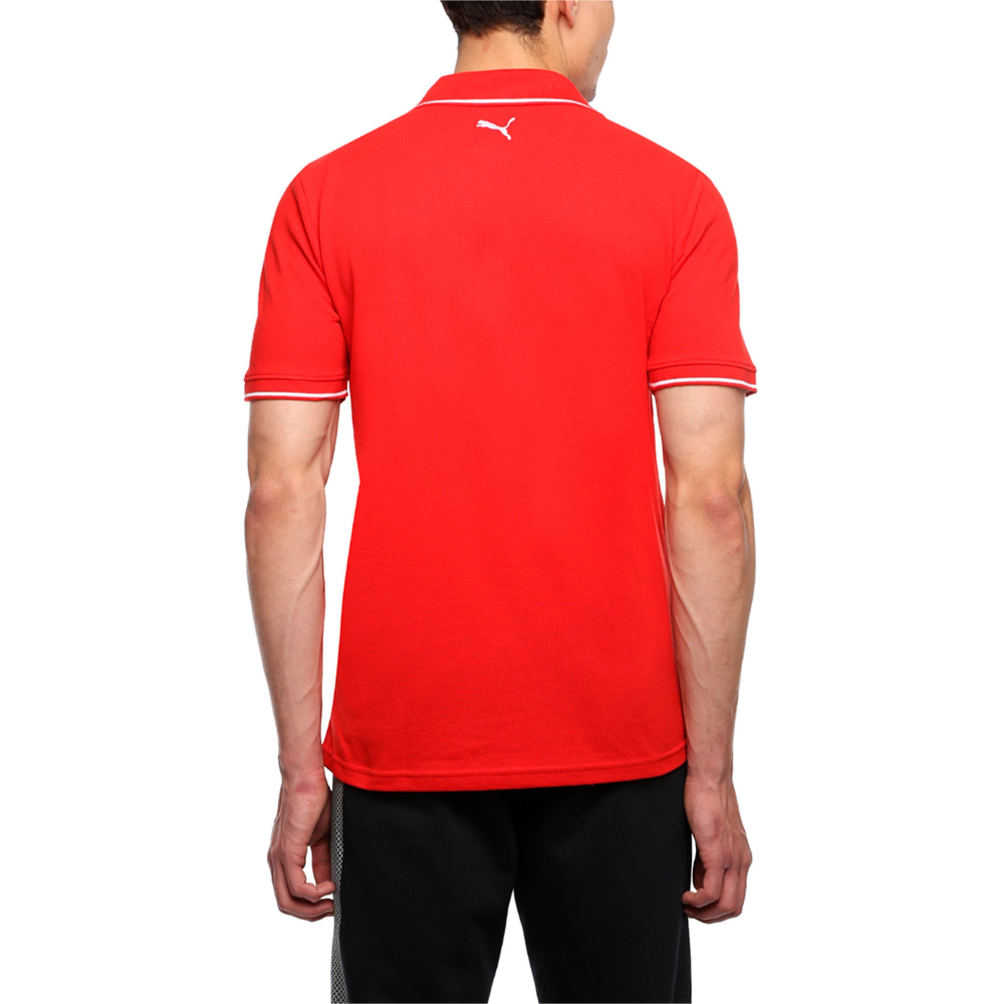 Thumbnail 5 of Men s ESS Tipping Polo, Puma Red, medium-IND