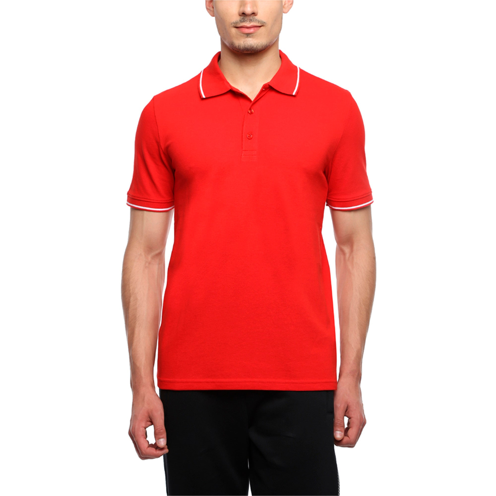 Thumbnail 4 of Men s ESS Tipping Polo, Puma Red, medium-IND