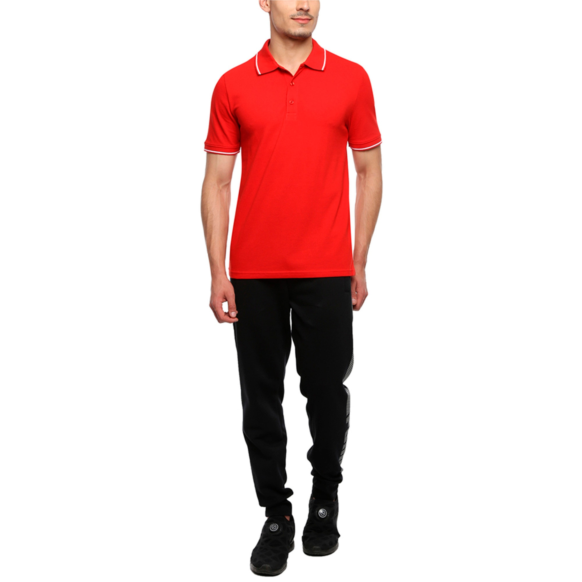 Thumbnail 1 of Men s ESS Tipping Polo, Puma Red, medium-IND