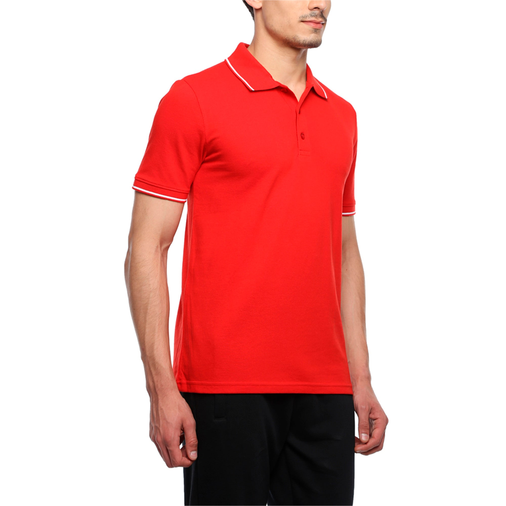 Thumbnail 2 of Men s ESS Tipping Polo, Puma Red, medium-IND