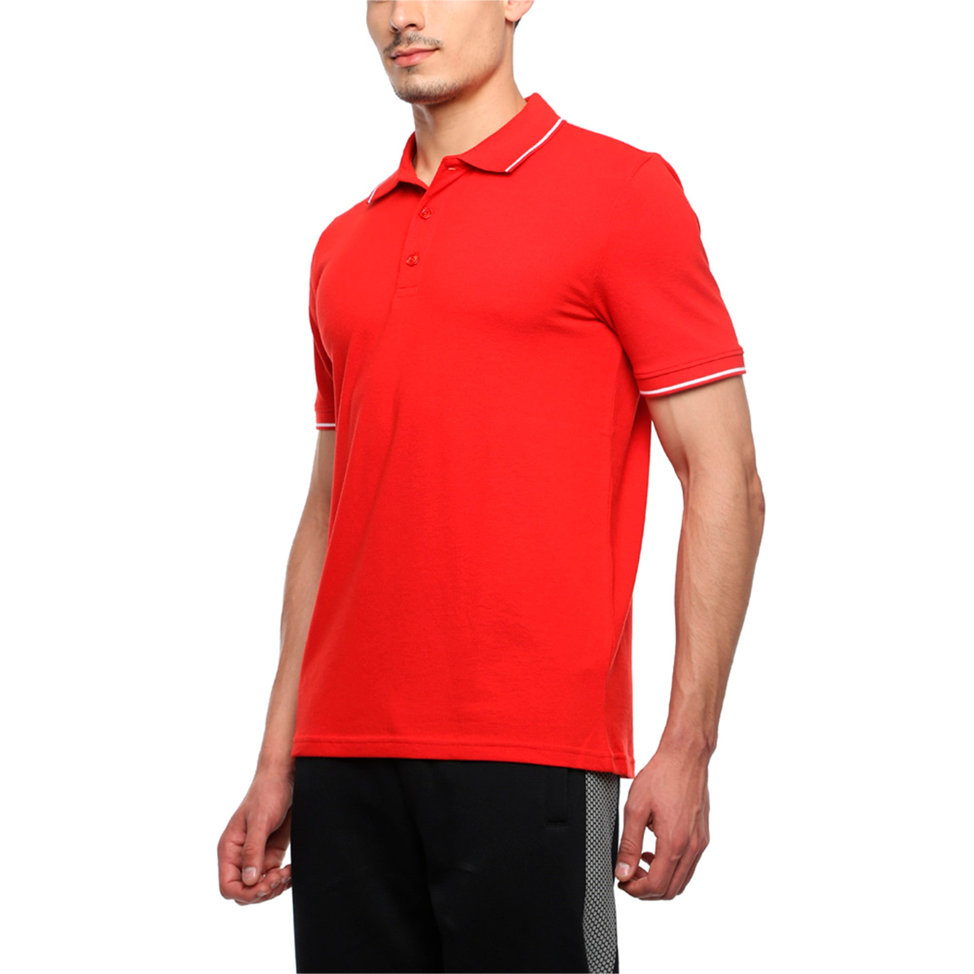 Thumbnail 3 of Men s ESS Tipping Polo, Puma Red, medium-IND