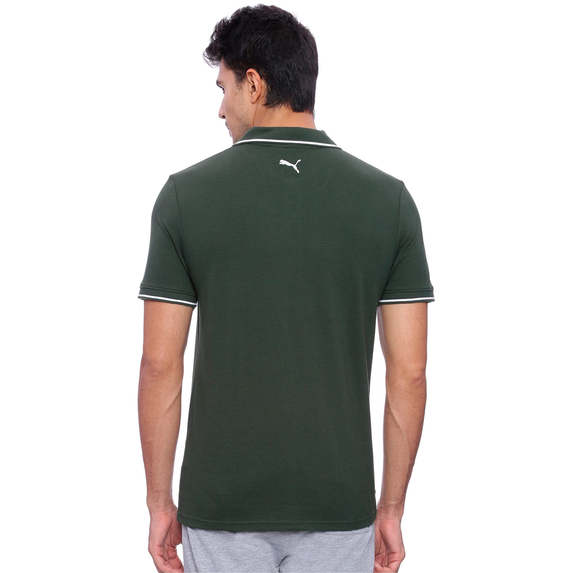 Thumbnail 1 of Men s ESS Tipping Polo, Olive Night, medium-IND