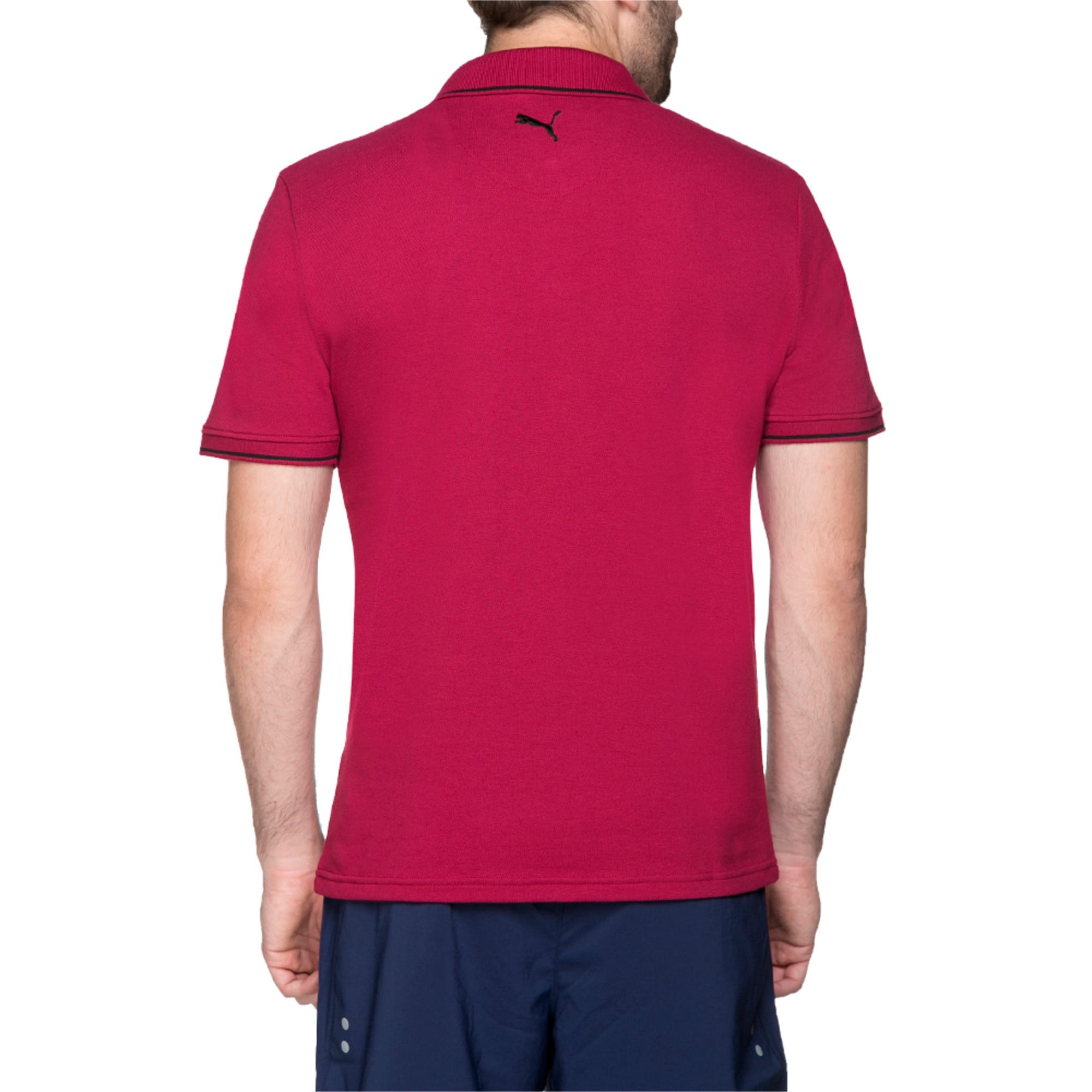 Thumbnail 5 of Men s ESS Tipping Polo, beet red, medium-IND