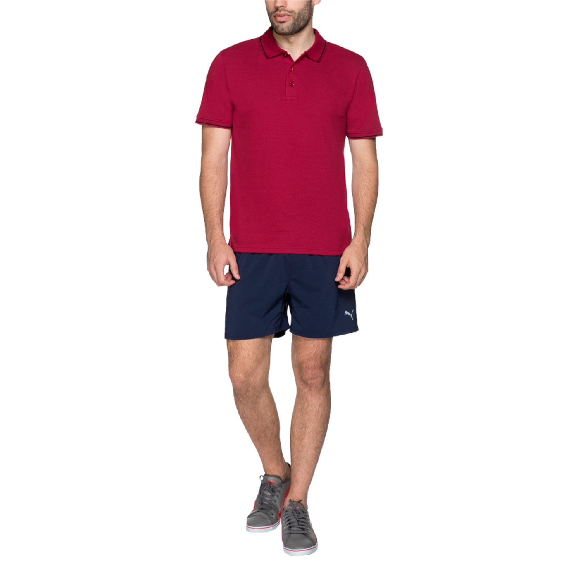 Thumbnail 1 of Men s ESS Tipping Polo, beet red, medium-IND