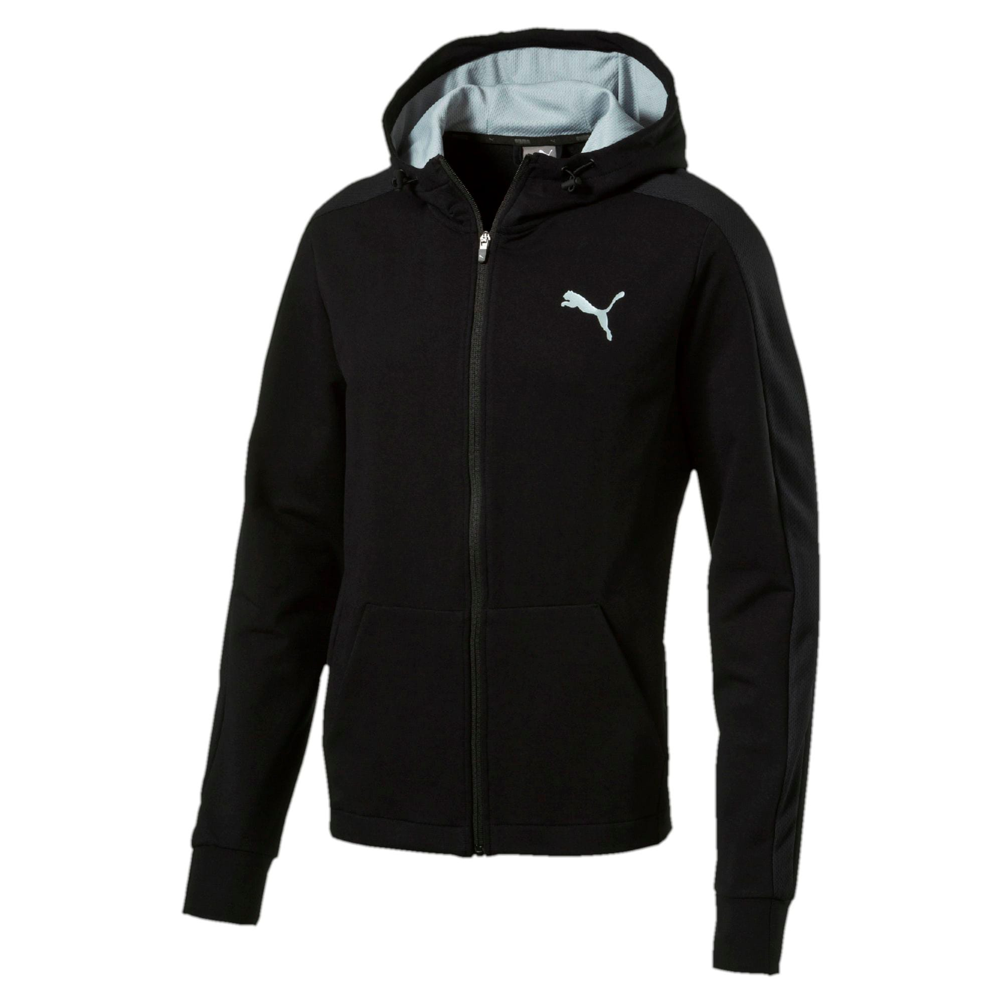 Thumbnail 1 of StretchLite Zip-Up Hoodie, Cotton Black, medium