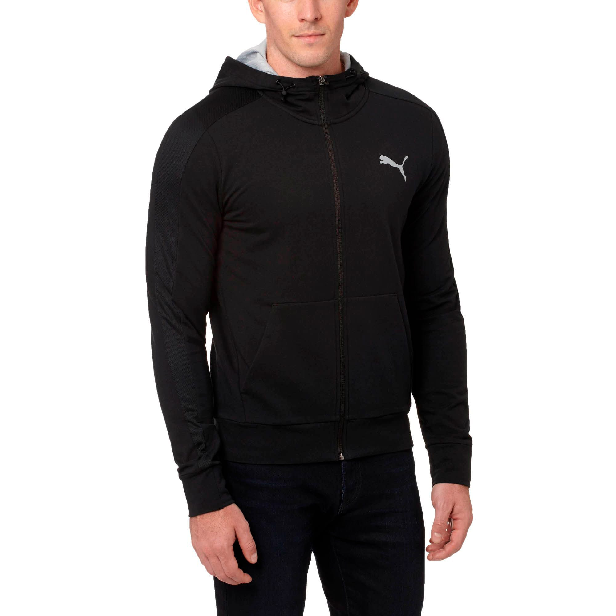 Thumbnail 2 of StretchLite Zip-Up Hoodie, Cotton Black, medium