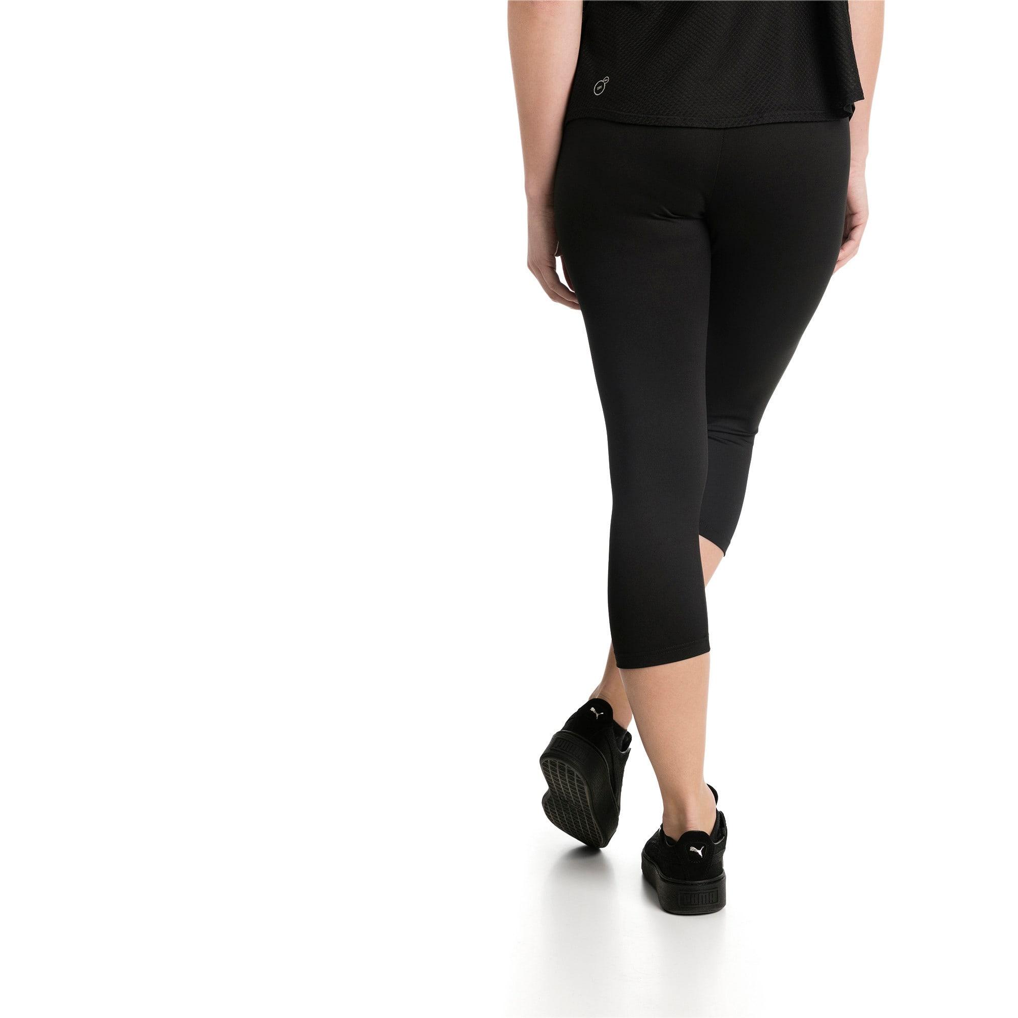 Thumbnail 2 of Active Women's 3/4 Leggings, Puma Black, medium-IND