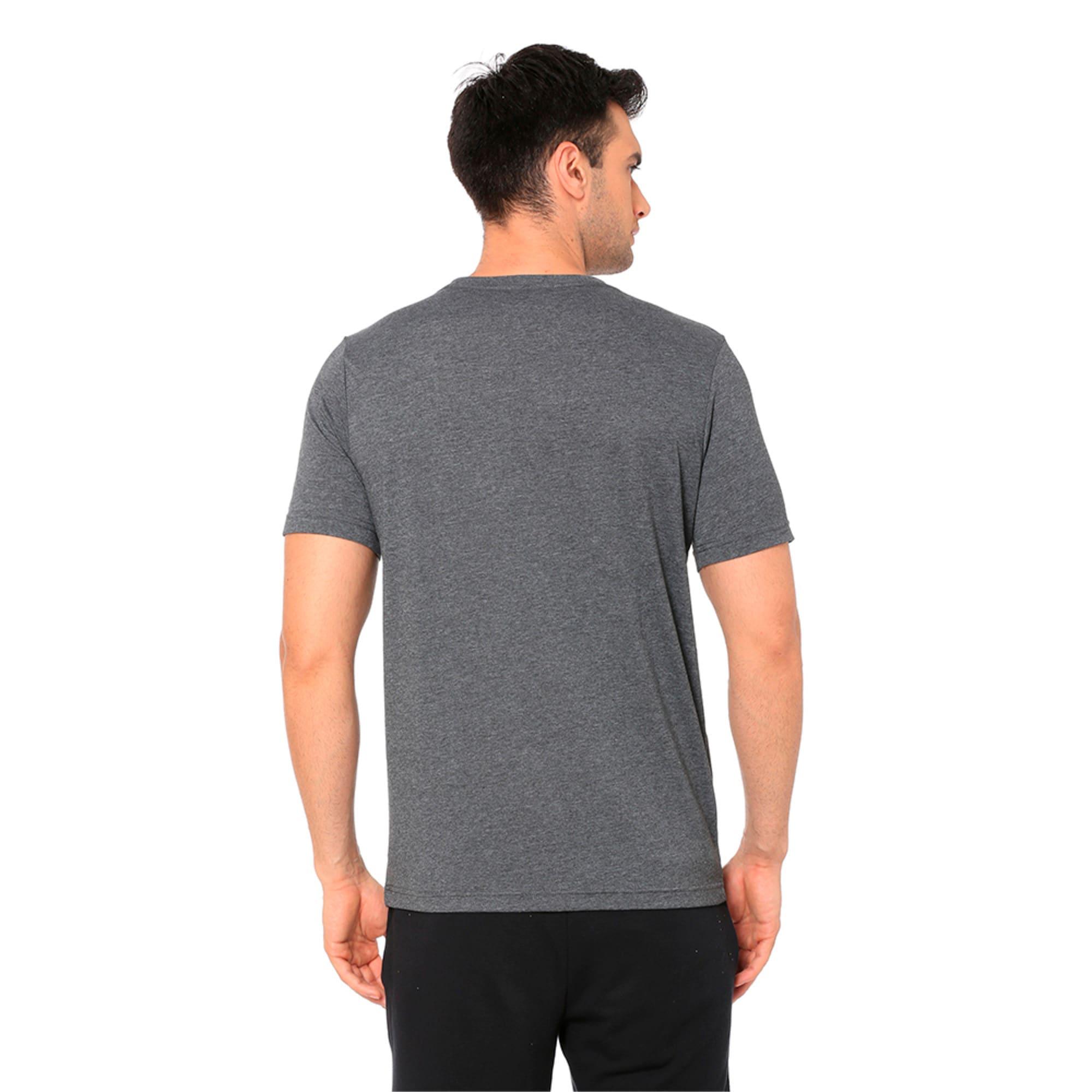 Thumbnail 5 of Men's Big Cat Heather T-Shirt, Puma Black Heather, medium-IND
