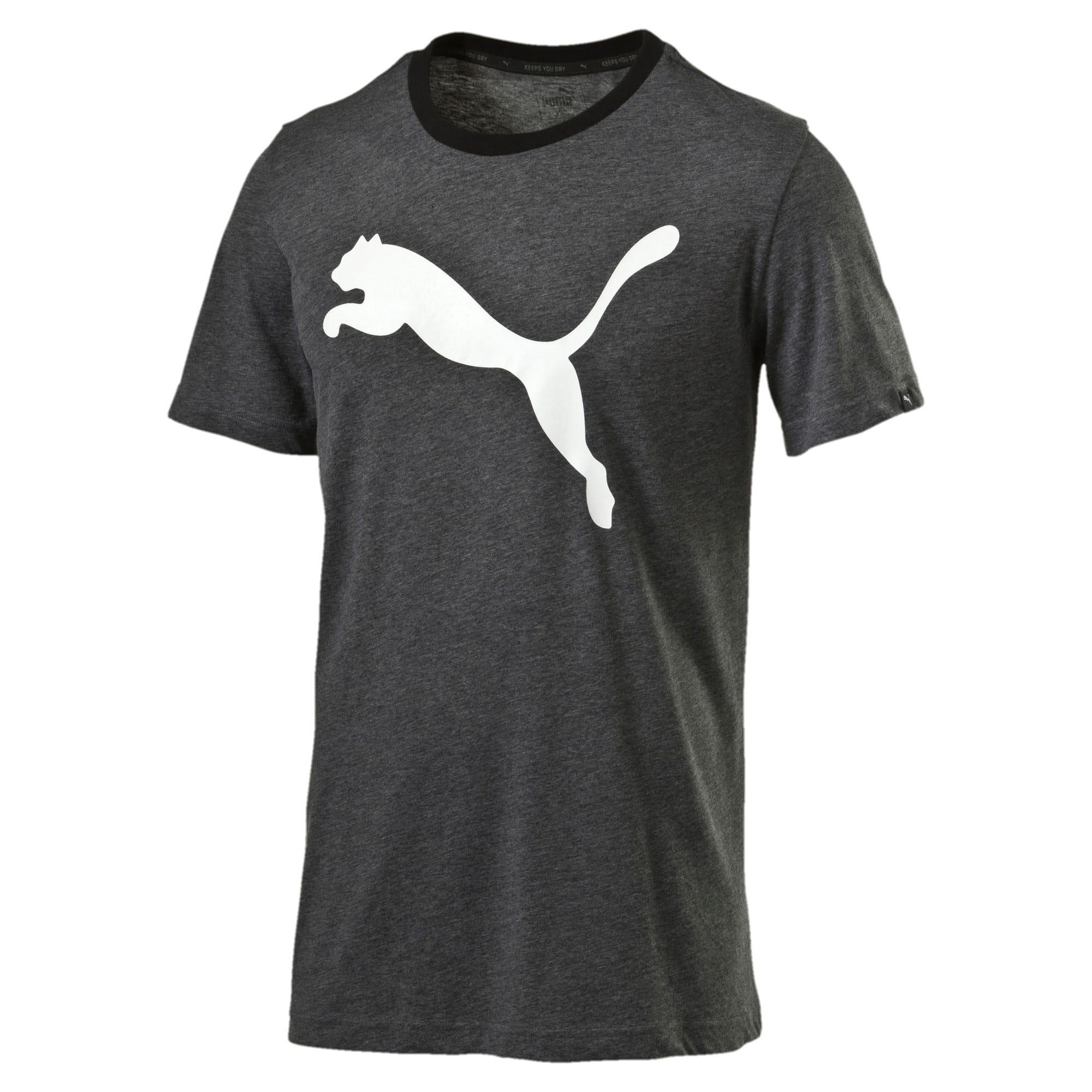 Thumbnail 4 of Men's Big Cat Heather T-Shirt, Puma Black Heather, medium-IND