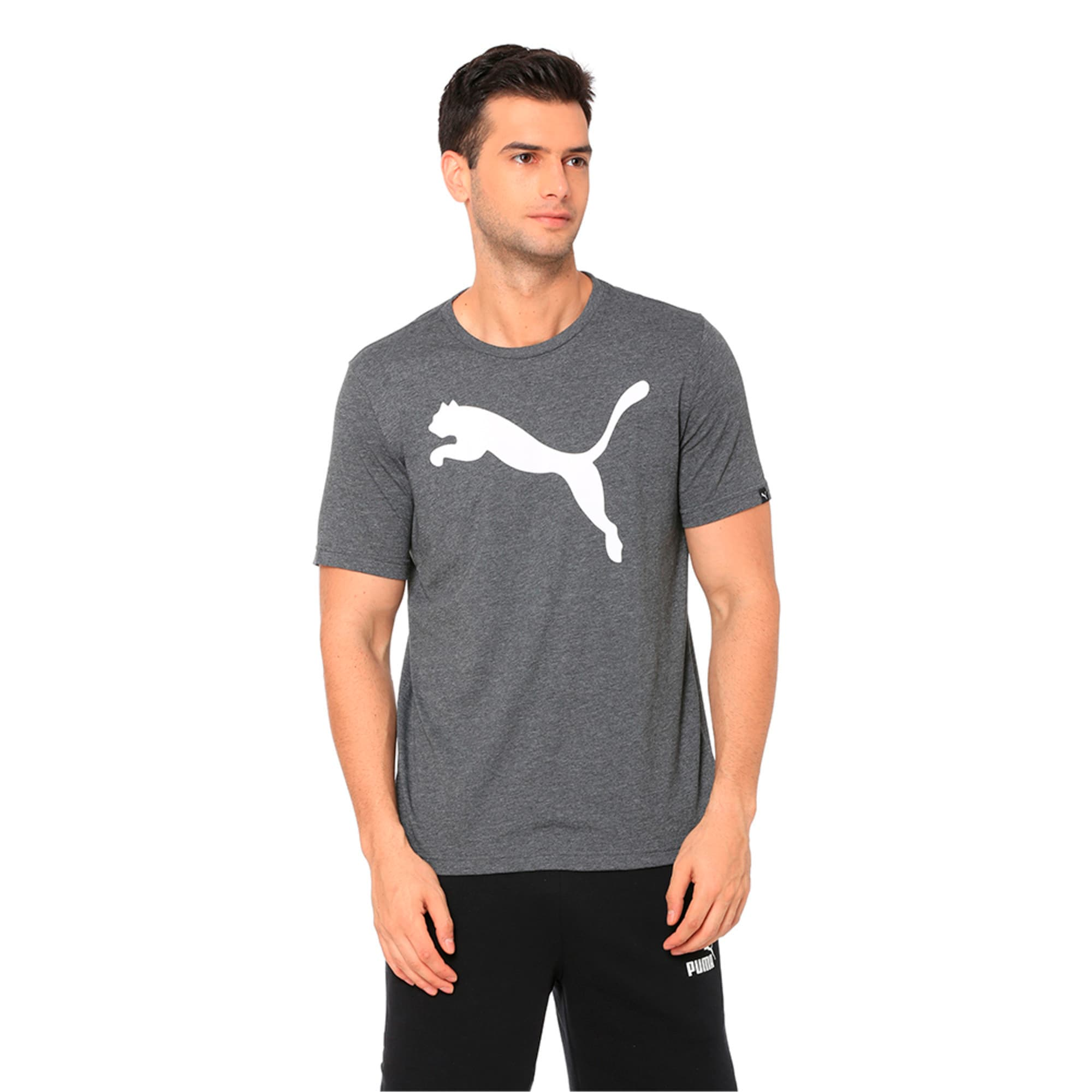 Thumbnail 1 of Men's Big Cat Heather T-Shirt, Puma Black Heather, medium-IND