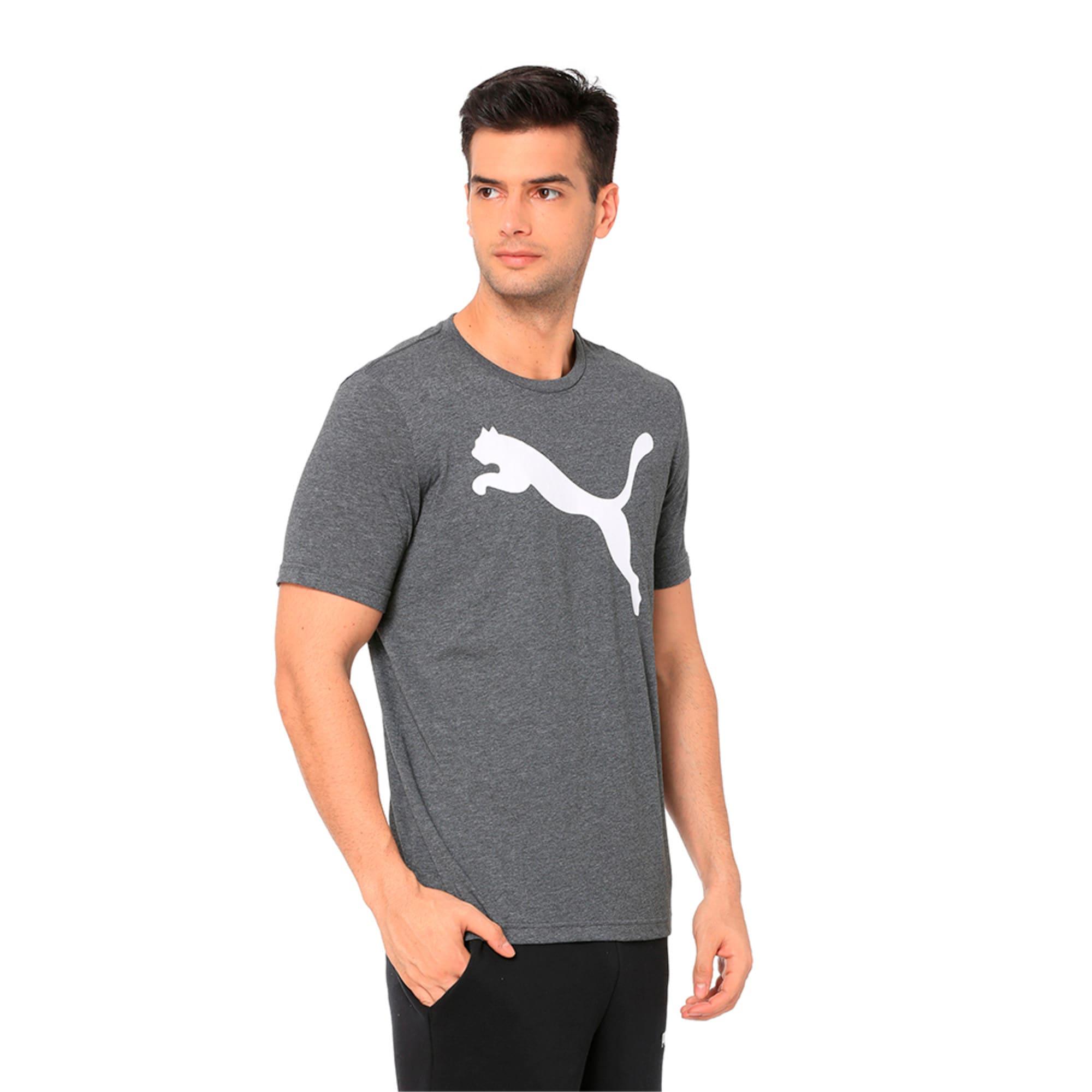 Thumbnail 2 of Men's Big Cat Heather T-Shirt, Puma Black Heather, medium-IND