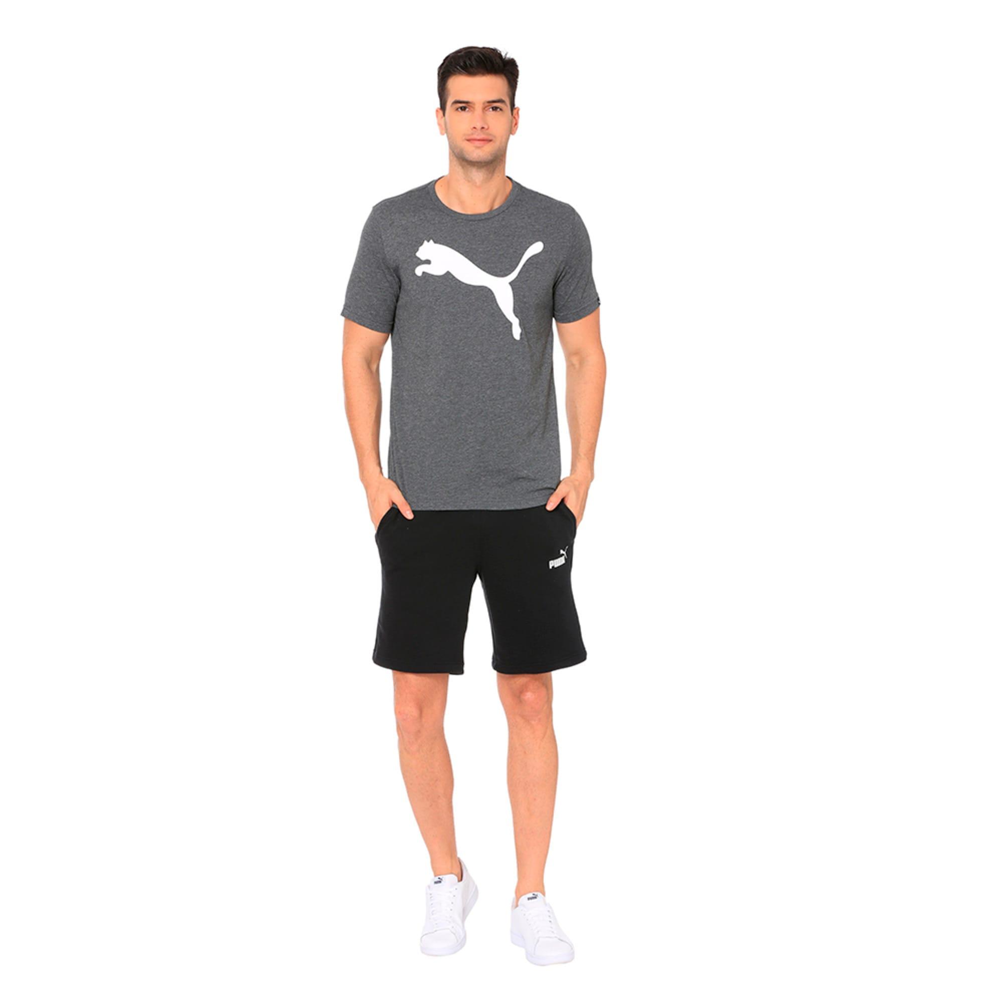Thumbnail 3 of Men's Big Cat Heather T-Shirt, Puma Black Heather, medium-IND