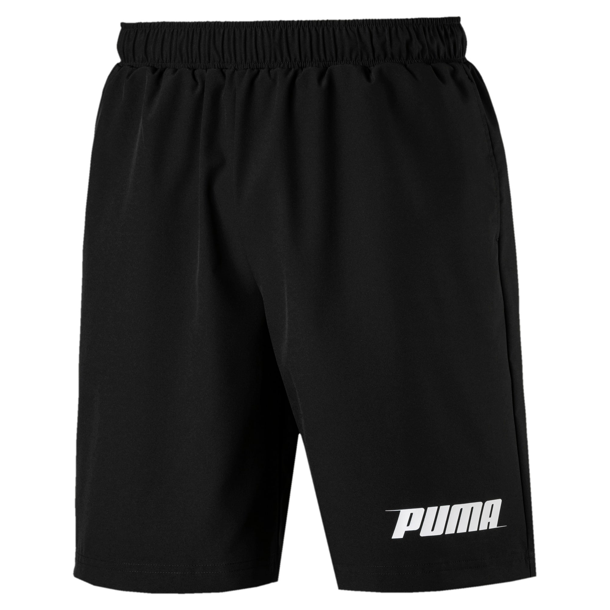 "Rebel Woven 9"" Men's Shorts, Puma Black, large"