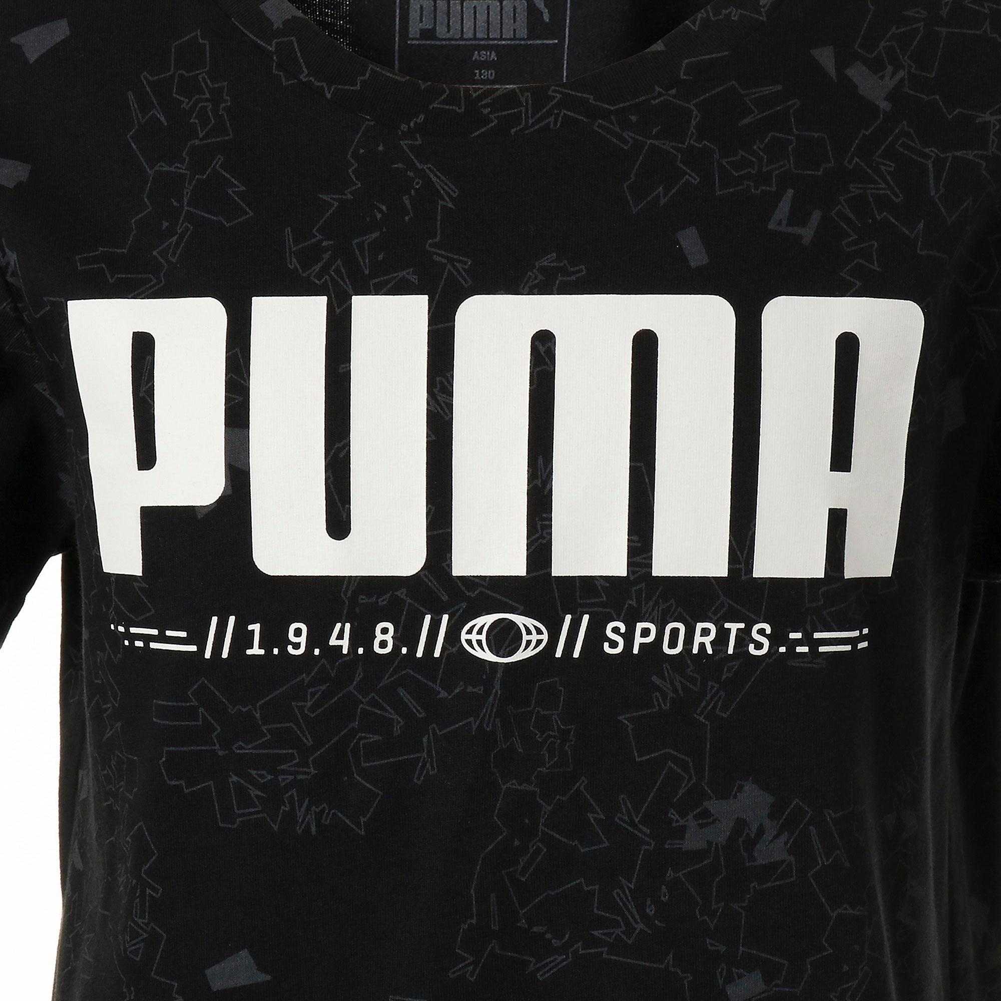 Thumbnail 4 of キッズ ACTIVE SS AOP Tシャツ 半袖, Puma Black, medium-JPN