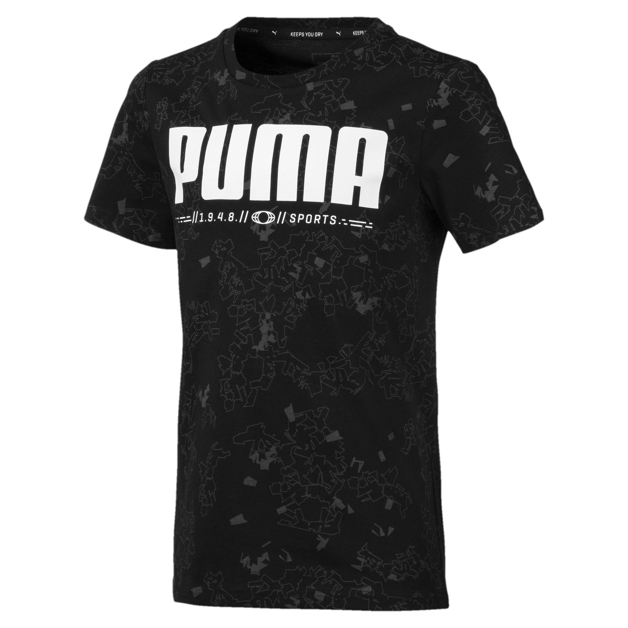 Thumbnail 1 of キッズ ACTIVE SS AOP Tシャツ 半袖, Puma Black, medium-JPN