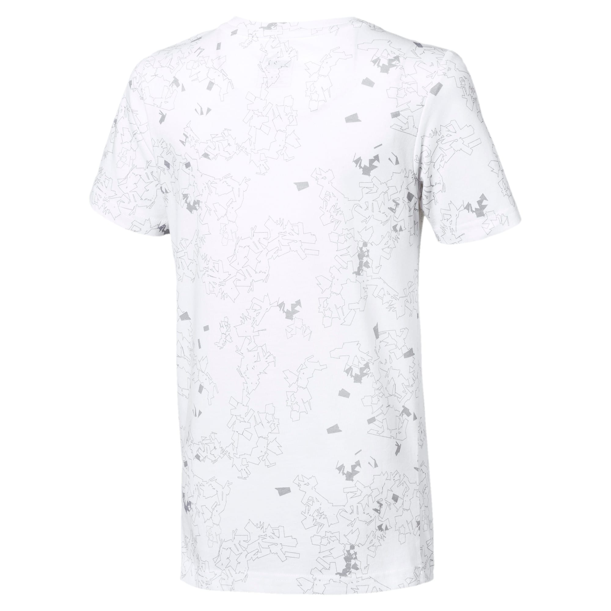 Thumbnail 2 of キッズ ACTIVE SS AOP Tシャツ 半袖, Puma White, medium-JPN