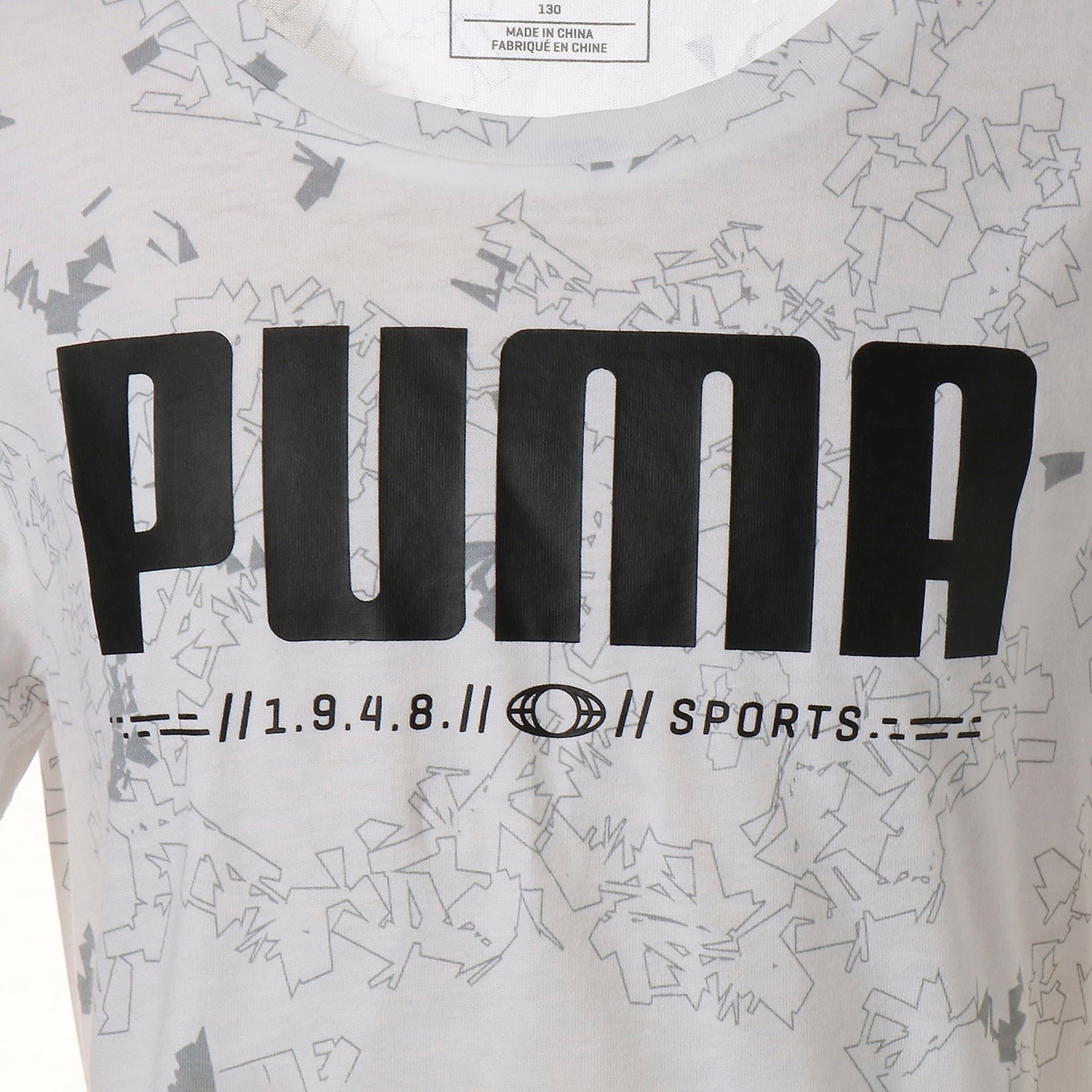 Thumbnail 4 of キッズ ACTIVE SS AOP Tシャツ 半袖, Puma White, medium-JPN