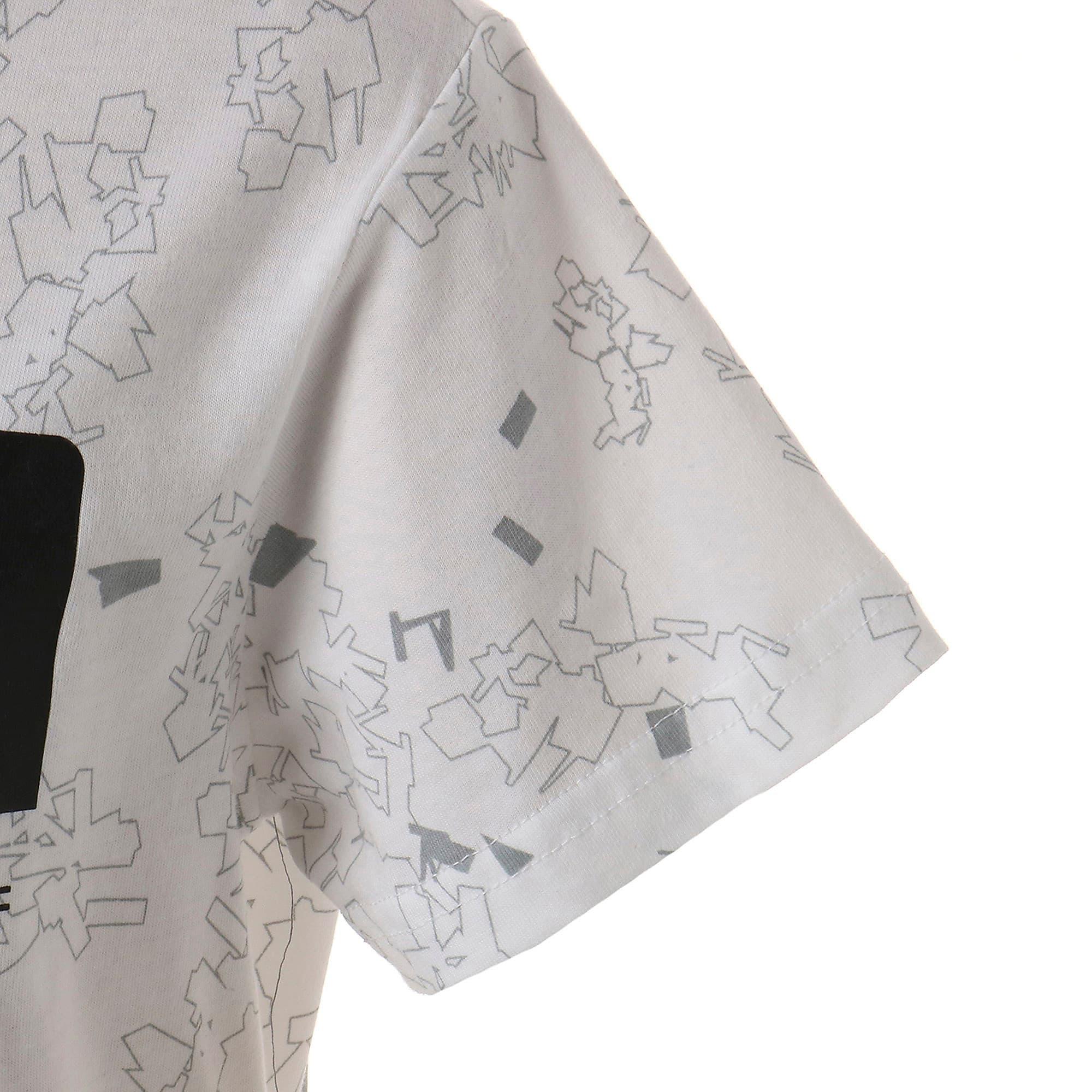 Thumbnail 5 of キッズ ACTIVE SS AOP Tシャツ 半袖, Puma White, medium-JPN