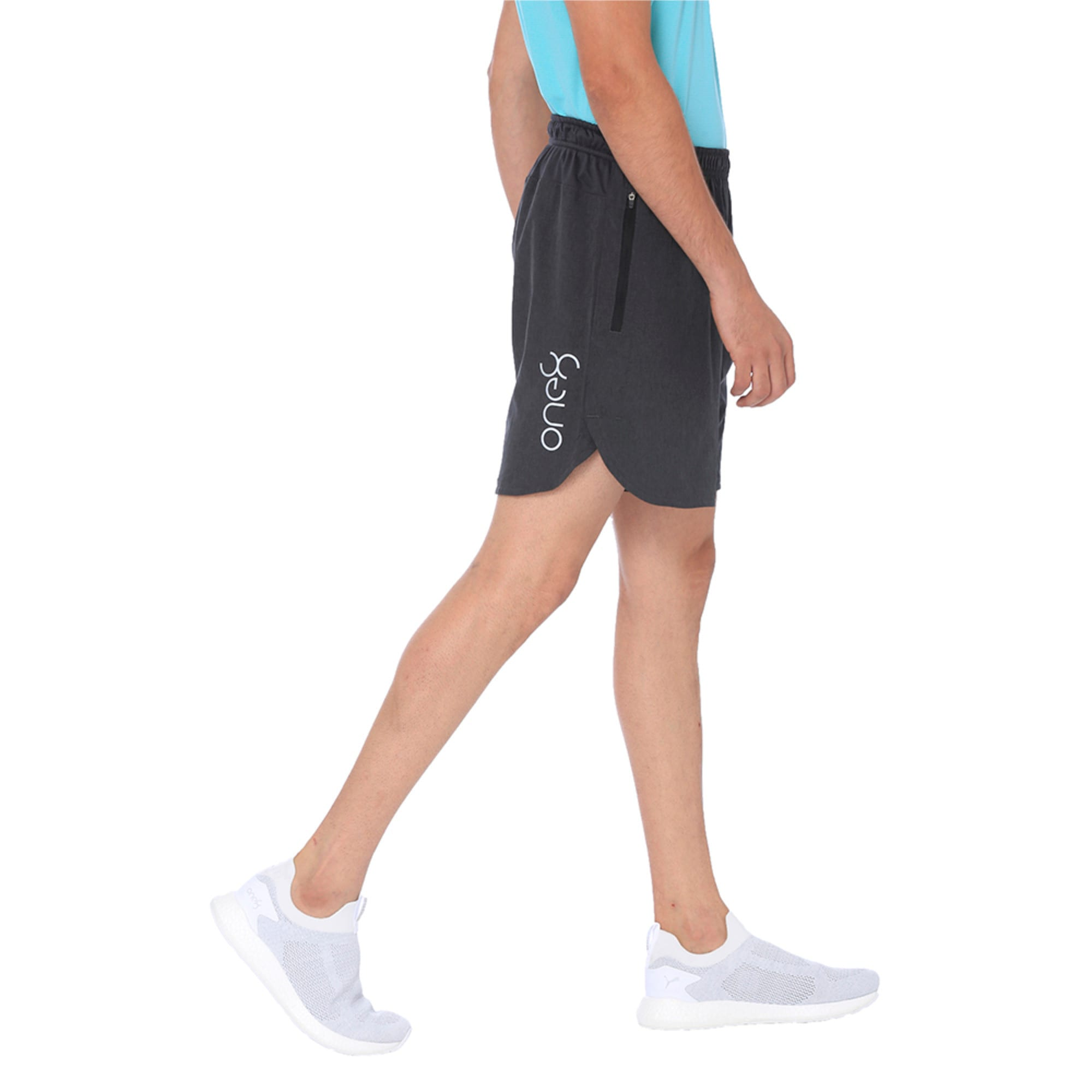 Thumbnail 2 of one8 VK Men's Active Shorts, Dark Gray Heather, medium-IND